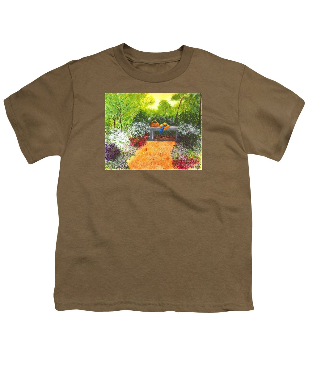 Garden Painting Youth T-Shirt featuring the painting Sanctuary by Patricia Griffin Brett