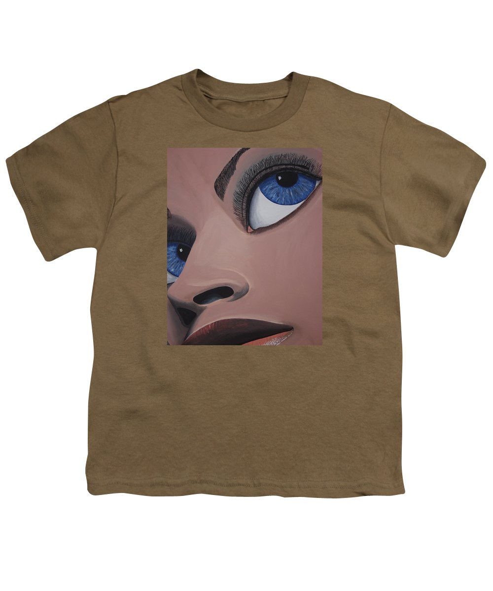 Eye Catching Youth T-Shirt featuring the painting SHE by Dean Stephens