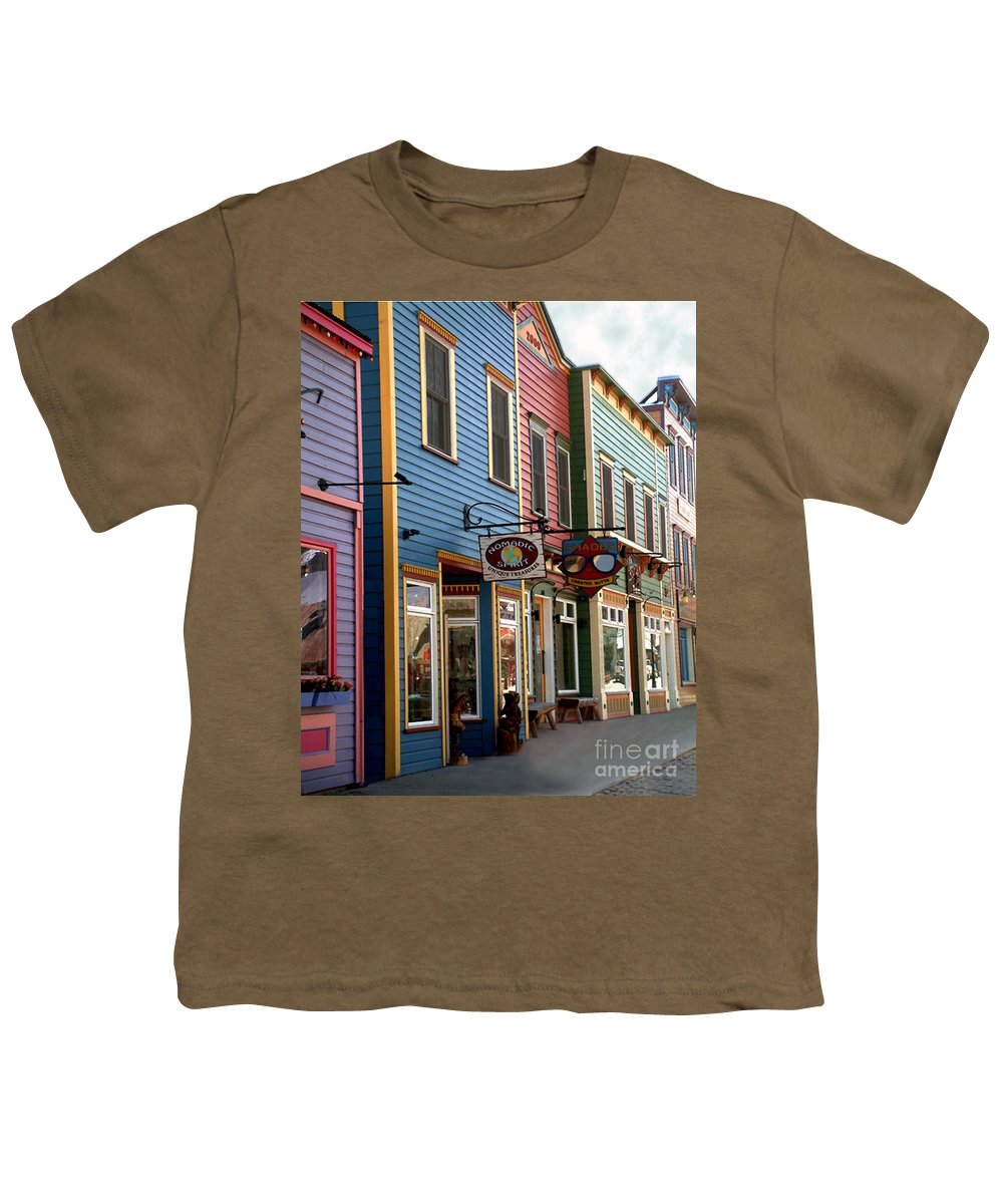 Landscape Youth T-Shirt featuring the photograph The Shops In Crested Butte by RC DeWinter