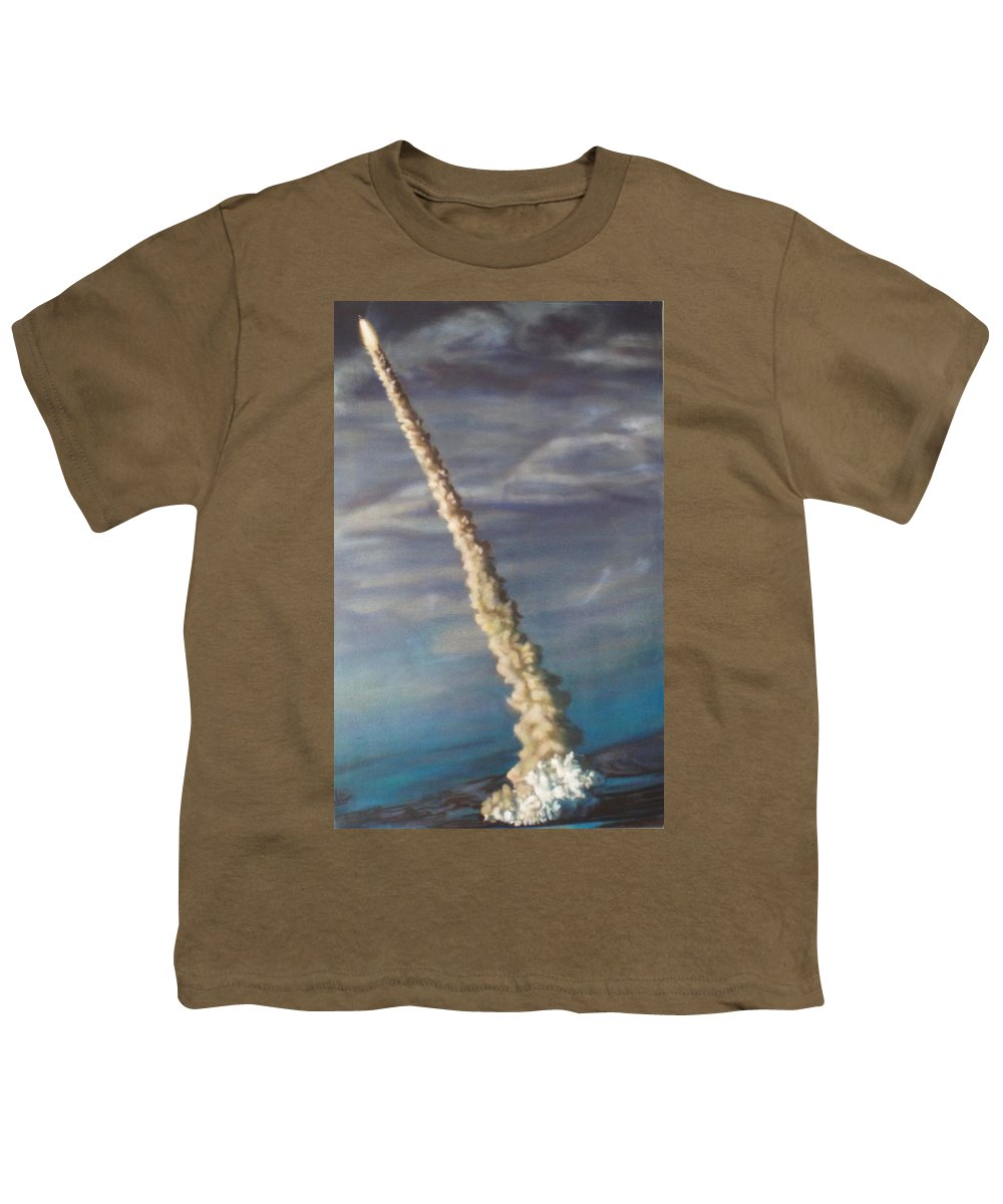 Rocket Youth T-Shirt featuring the painting Throttle Up by Sean Connolly