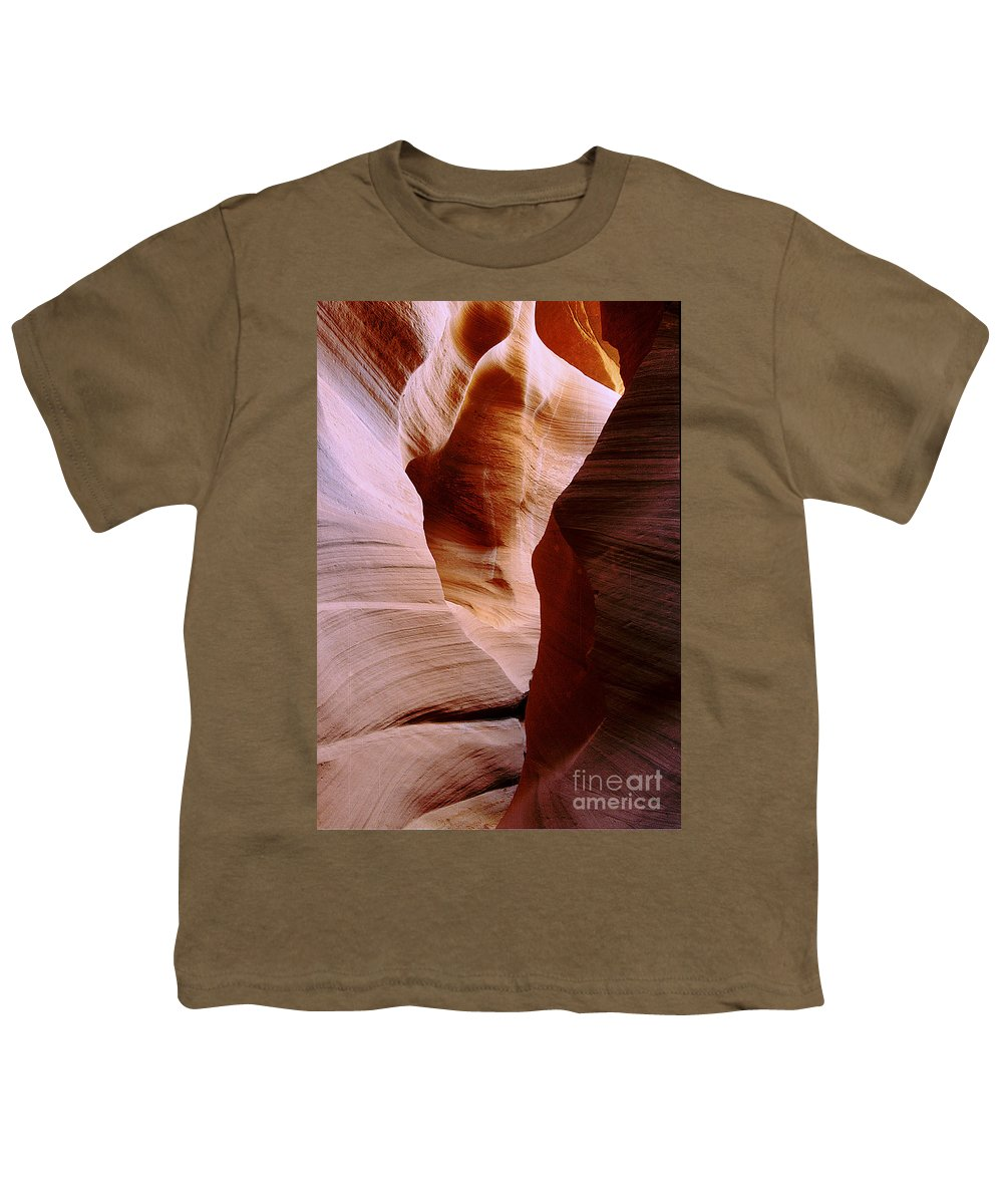 Antelope Canyon Youth T-Shirt featuring the photograph Timeless by Kathy McClure