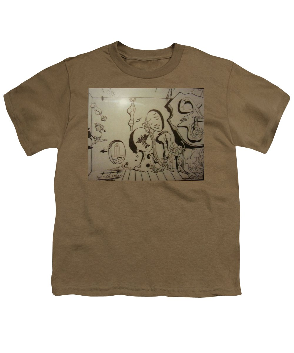 Youth T-Shirt featuring the drawing Untitled by Jude Darrien