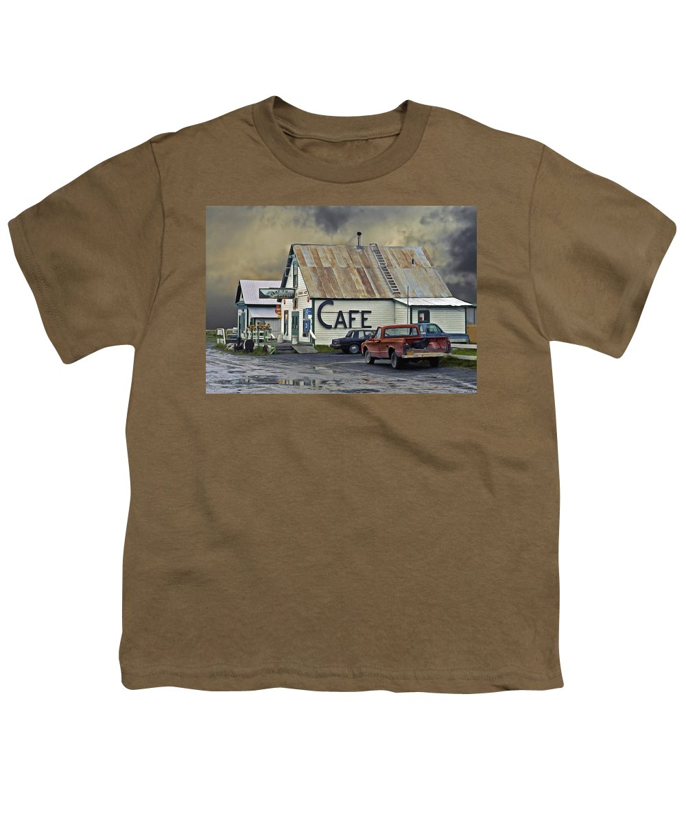 Alaska Youth T-Shirt featuring the photograph Vintage Alaska Cafe by Ron Day