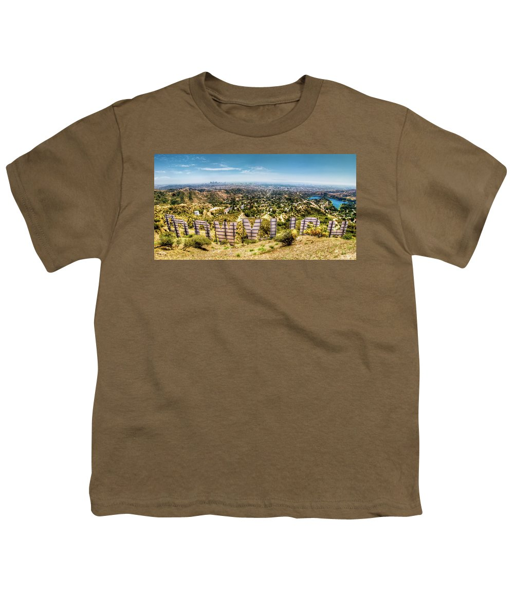 Actress Youth T-Shirt featuring the photograph Welcome to Hollywood by Natasha Bishop