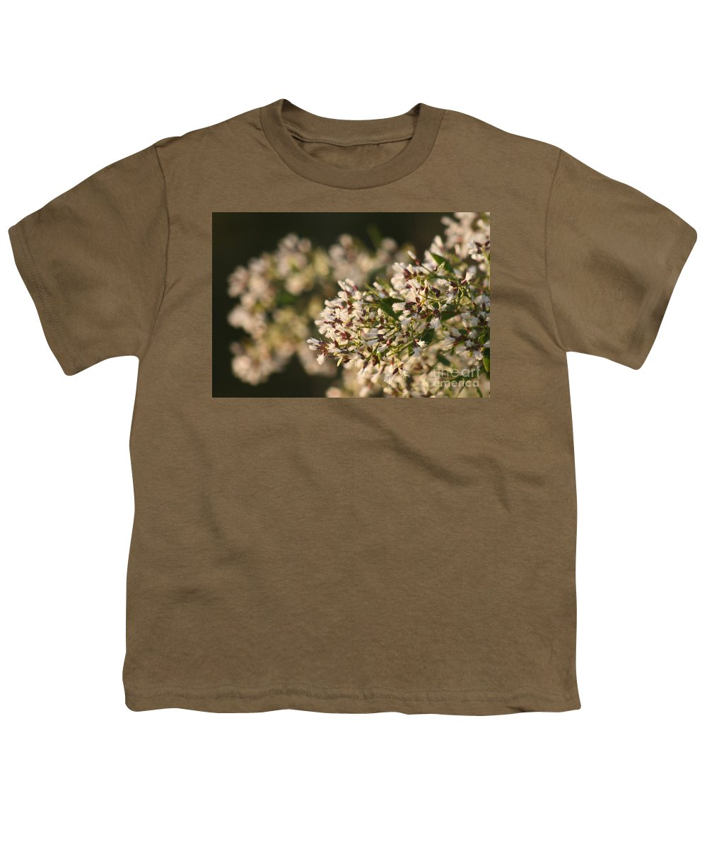 White Youth T-Shirt featuring the photograph White Flowers by Nadine Rippelmeyer