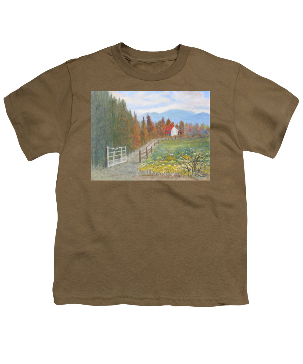 Youth T-Shirt featuring the painting Country Road by Ben Kiger