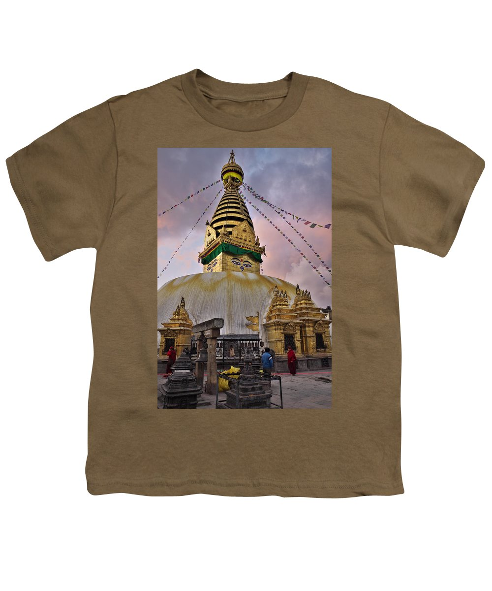 Temple Youth T-Shirt featuring the photograph Temple by Ivan Slosar