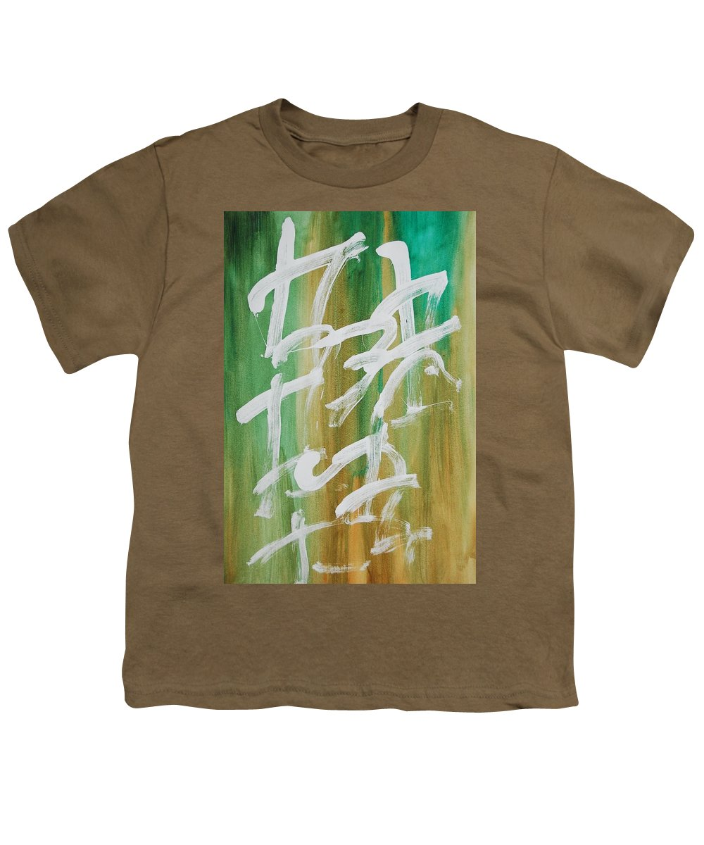 Chinese Youth T-Shirt featuring the painting Chinese Numbers by Lauren Luna