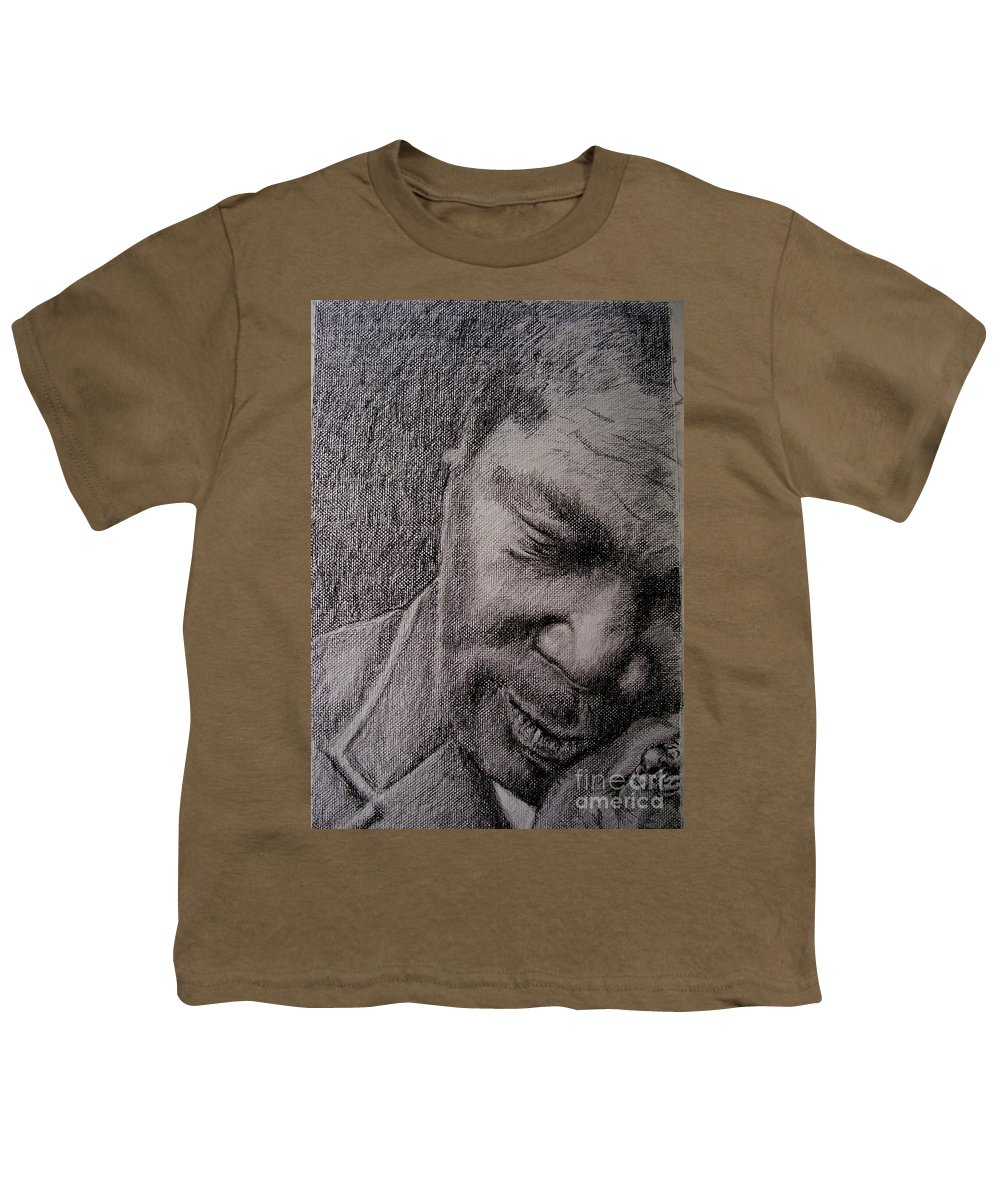 Bbking Youth T-Shirt featuring the painting Bbking by Frances Marino