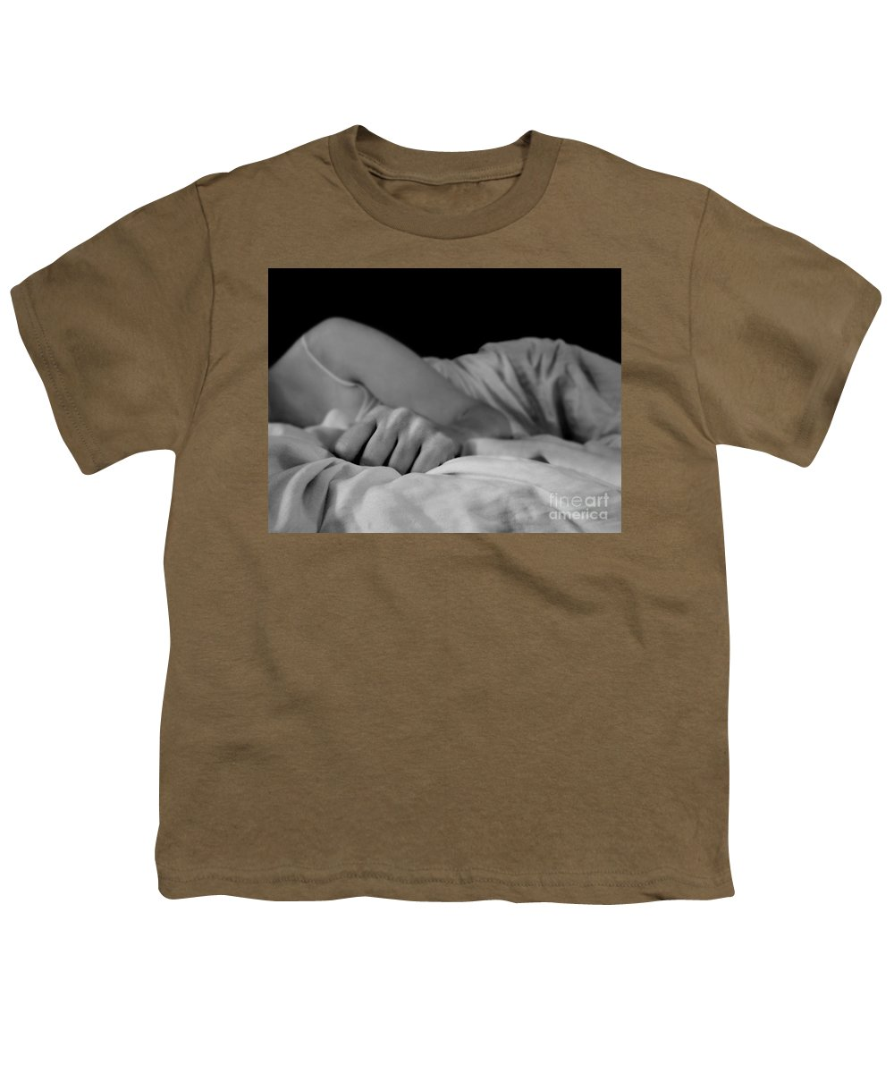 Dipasquale Youth T-Shirt featuring the photograph Cast Me Gently Into Morning For The Night Has Been Unkind by Dana DiPasquale
