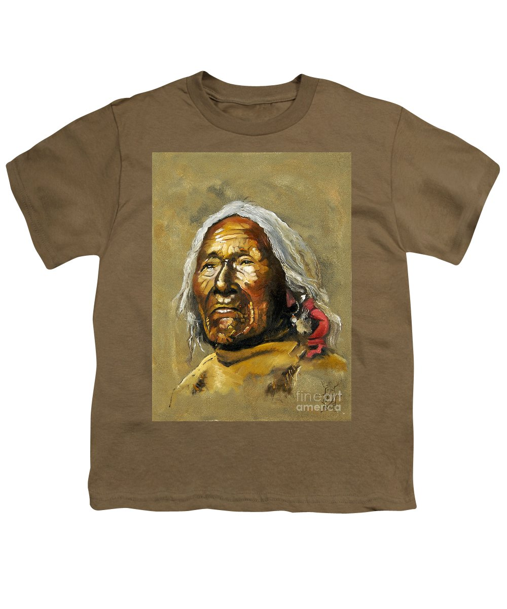 Southwest Art Youth T-Shirt featuring the painting Painted Sands Of Time by J W Baker