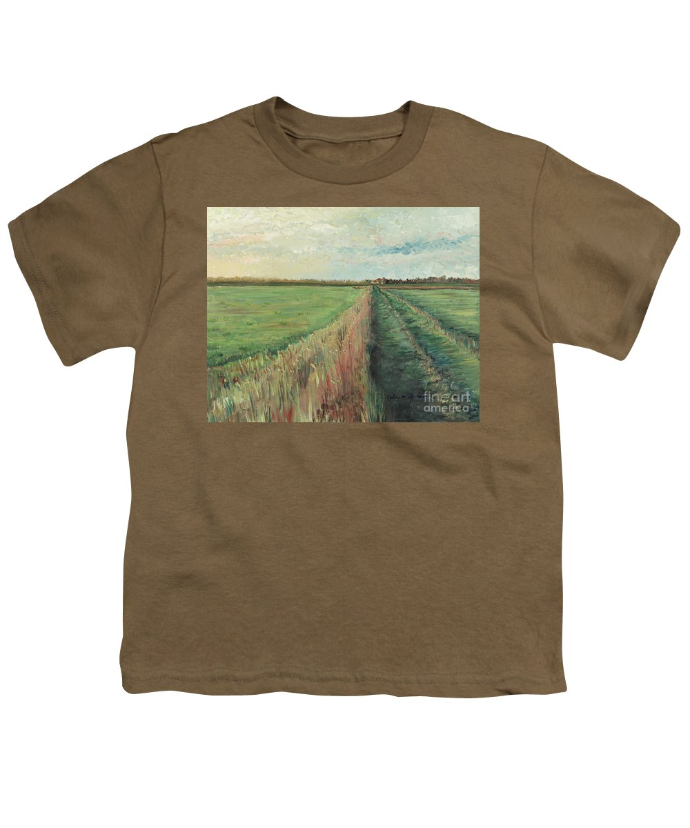 Provence Youth T-Shirt featuring the painting Provence Villa by Nadine Rippelmeyer
