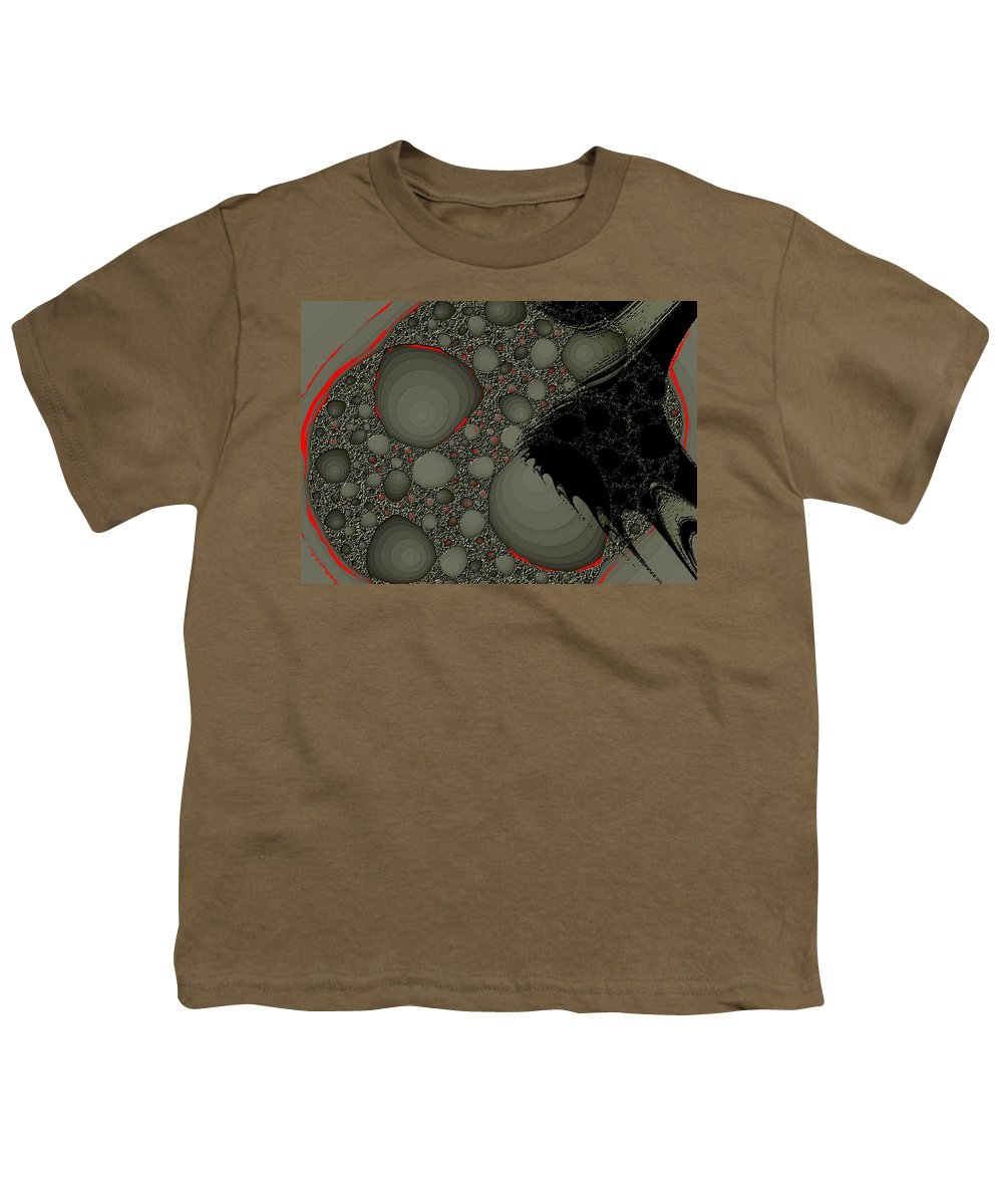 Fractals Embers Fire Cells Stones Rocks Youth T-Shirt featuring the digital art Untitled by Veronica Jackson