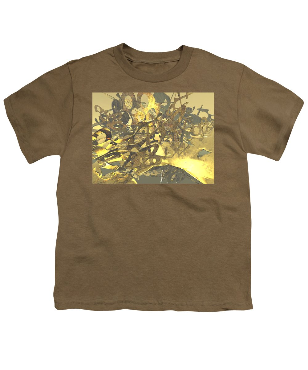Scott Piers Youth T-Shirt featuring the painting Urban Gold by Scott Piers