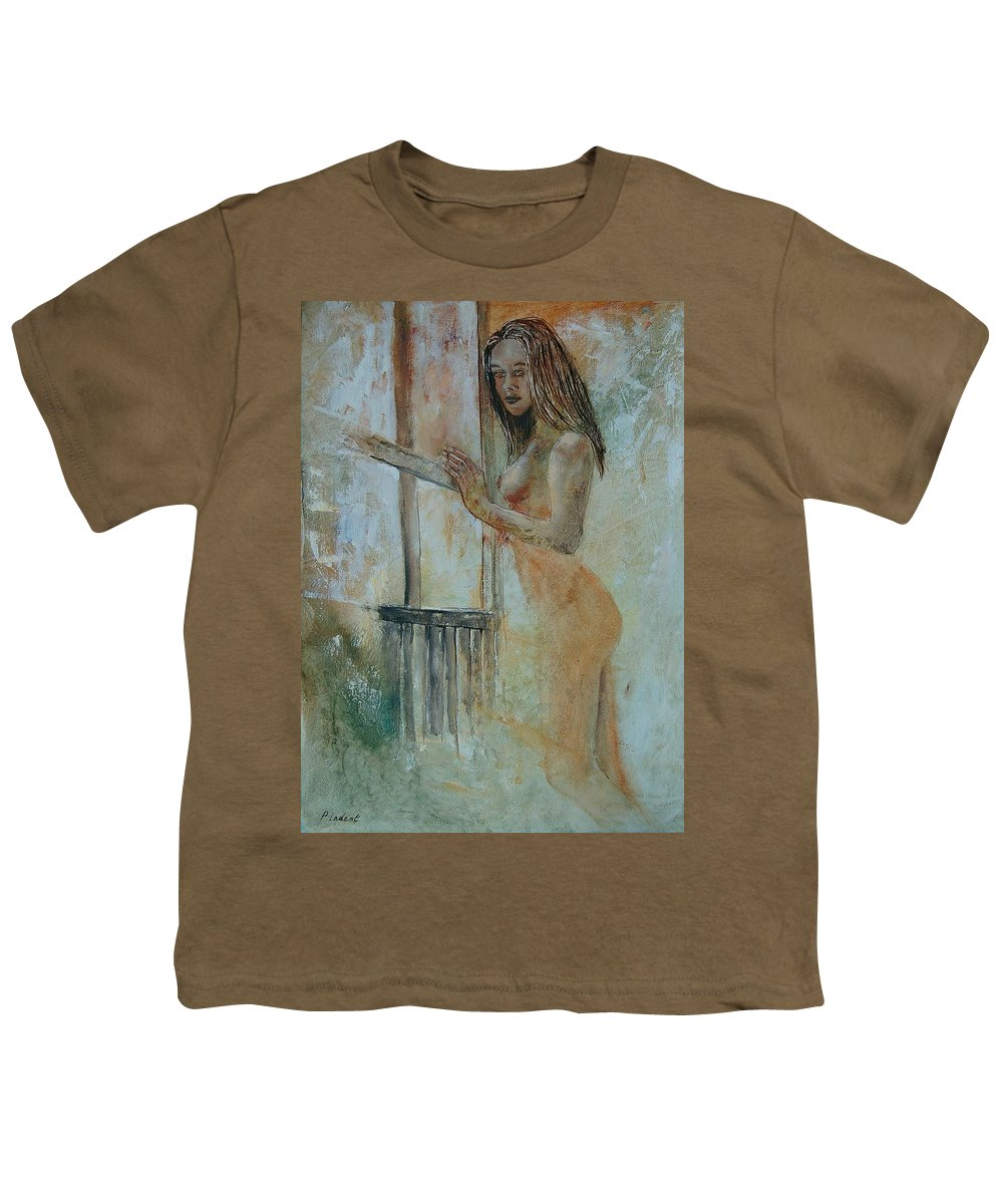 Gir Youth T-Shirt featuring the painting Young Girl 57905062 by Pol Ledent