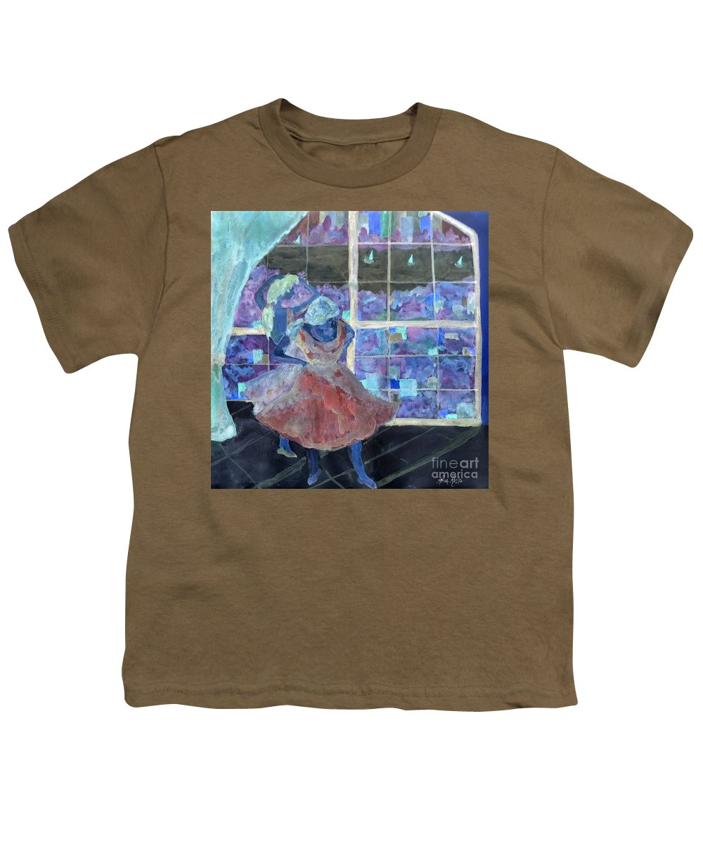 Ballet Dancers Youth T-Shirt featuring the digital art Dansarinas by Reina Resto