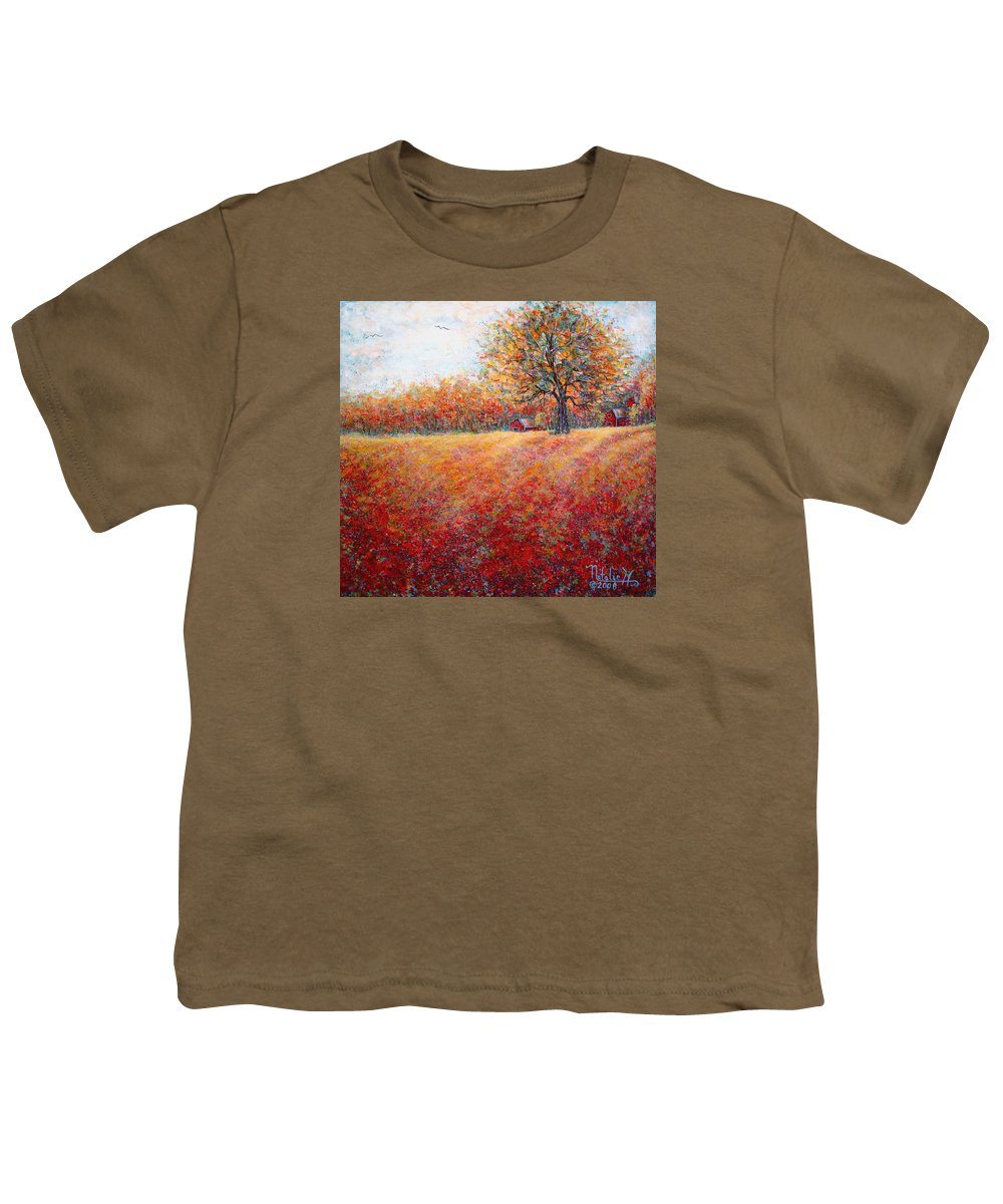 Autumn Landscape Youth T-Shirt featuring the painting A Beautiful Autumn Day by Natalie Holland