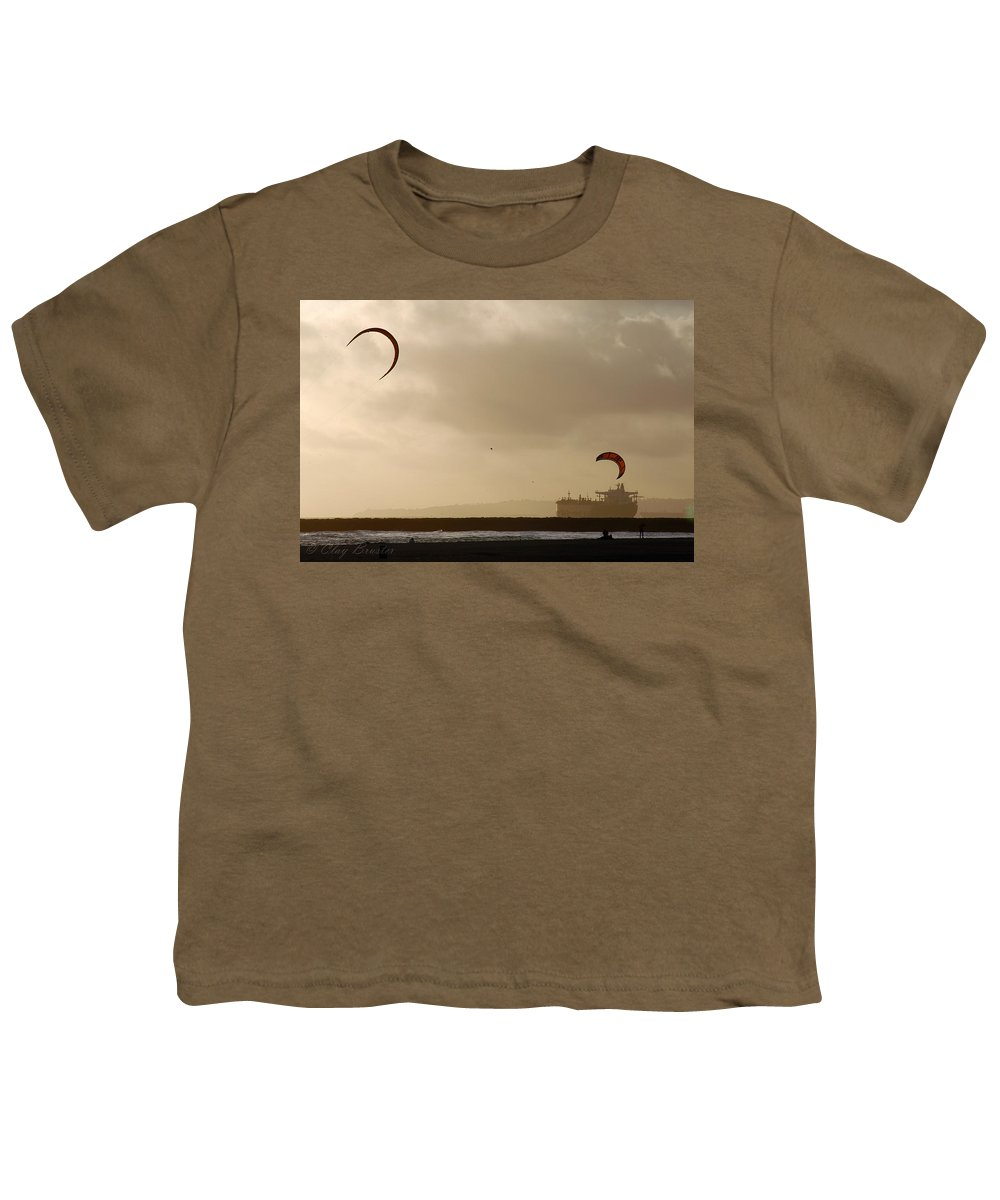 Clay Youth T-Shirt featuring the photograph A Day At The Beach by Clayton Bruster