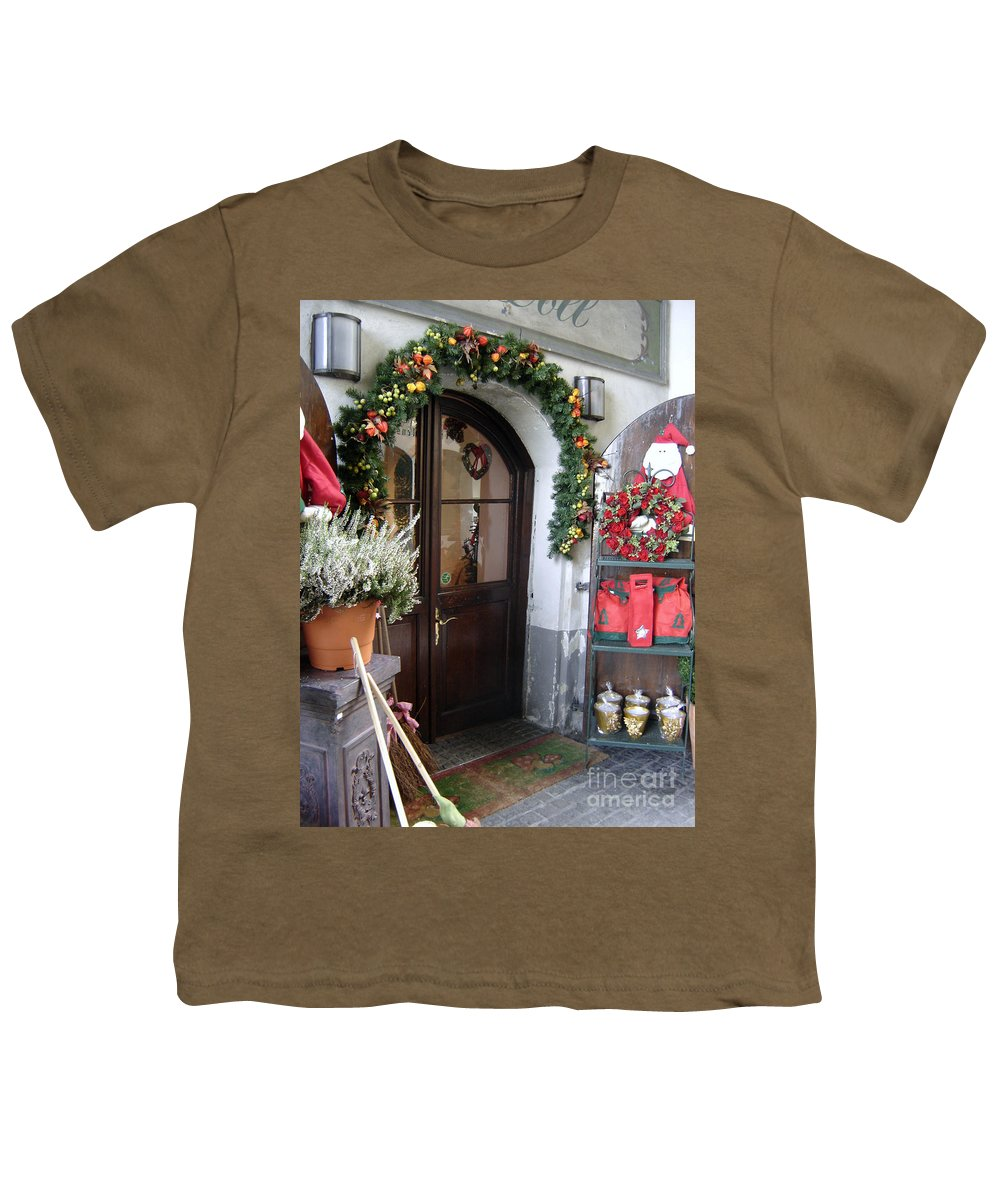 Santa Youth T-Shirt featuring the photograph A Salzburg Christmas by Mary Rogers