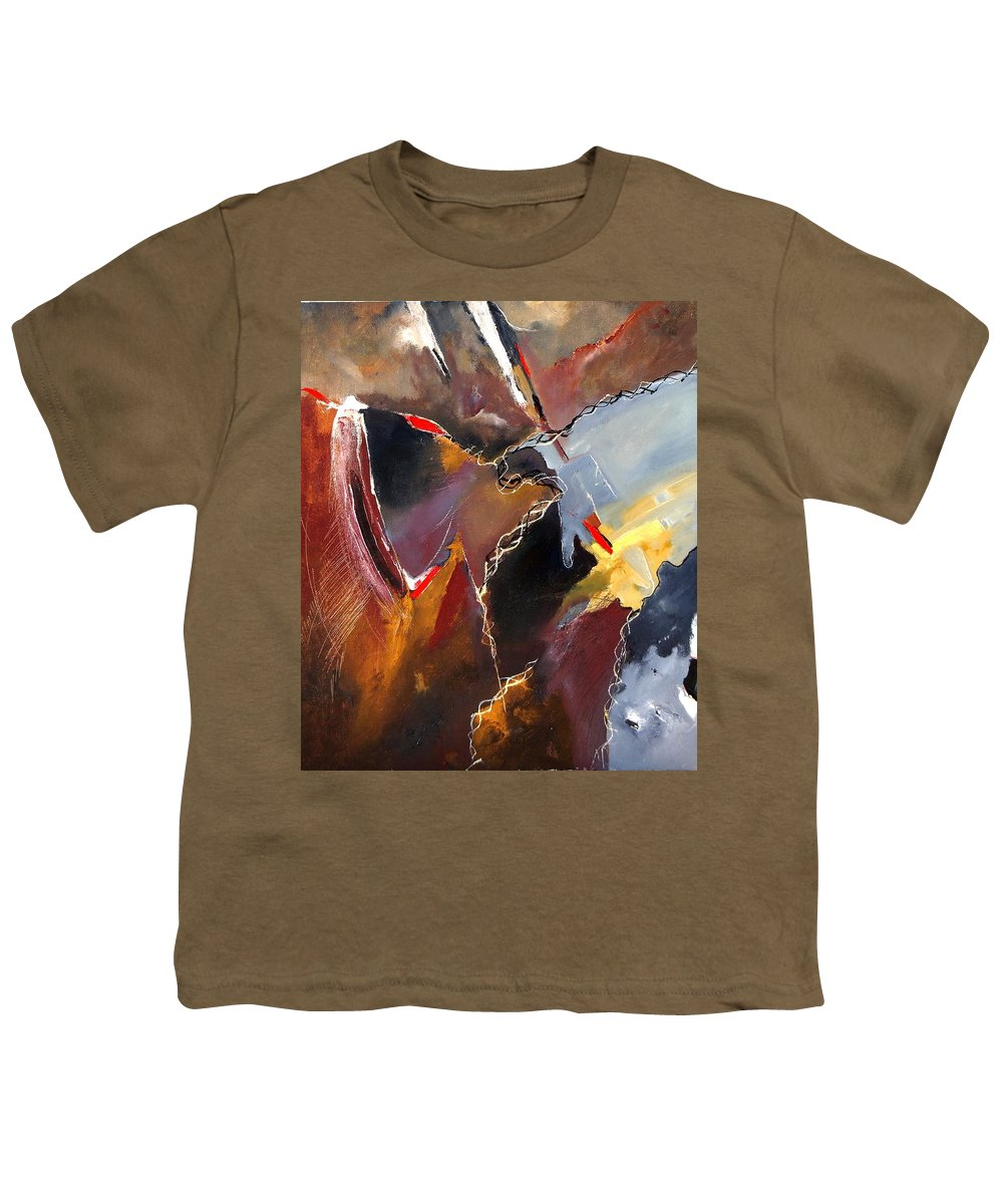 Abstract Youth T-Shirt featuring the painting Abstract 020606 by Pol Ledent