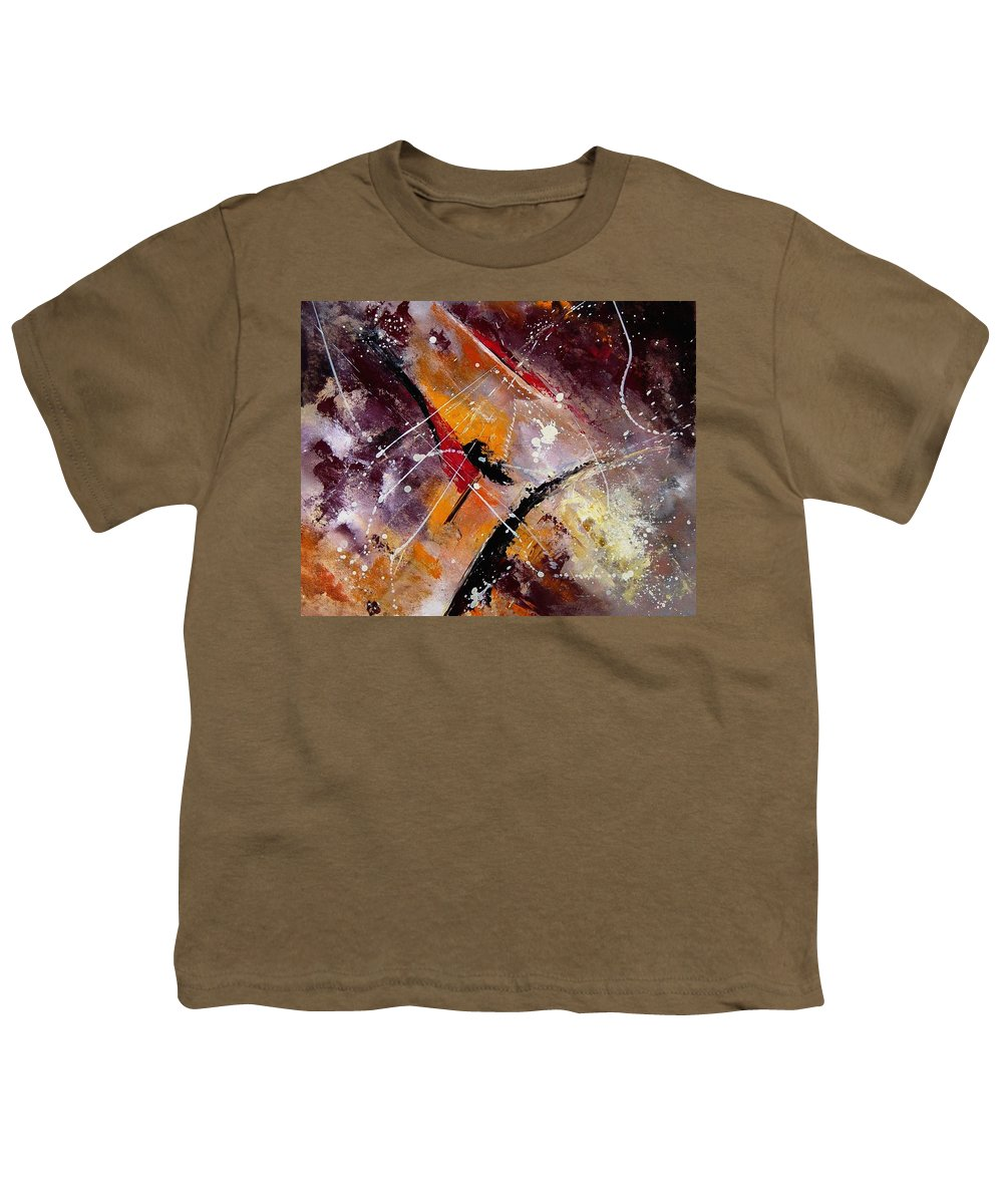 Abstract Youth T-Shirt featuring the painting Abstract 45 by Pol Ledent