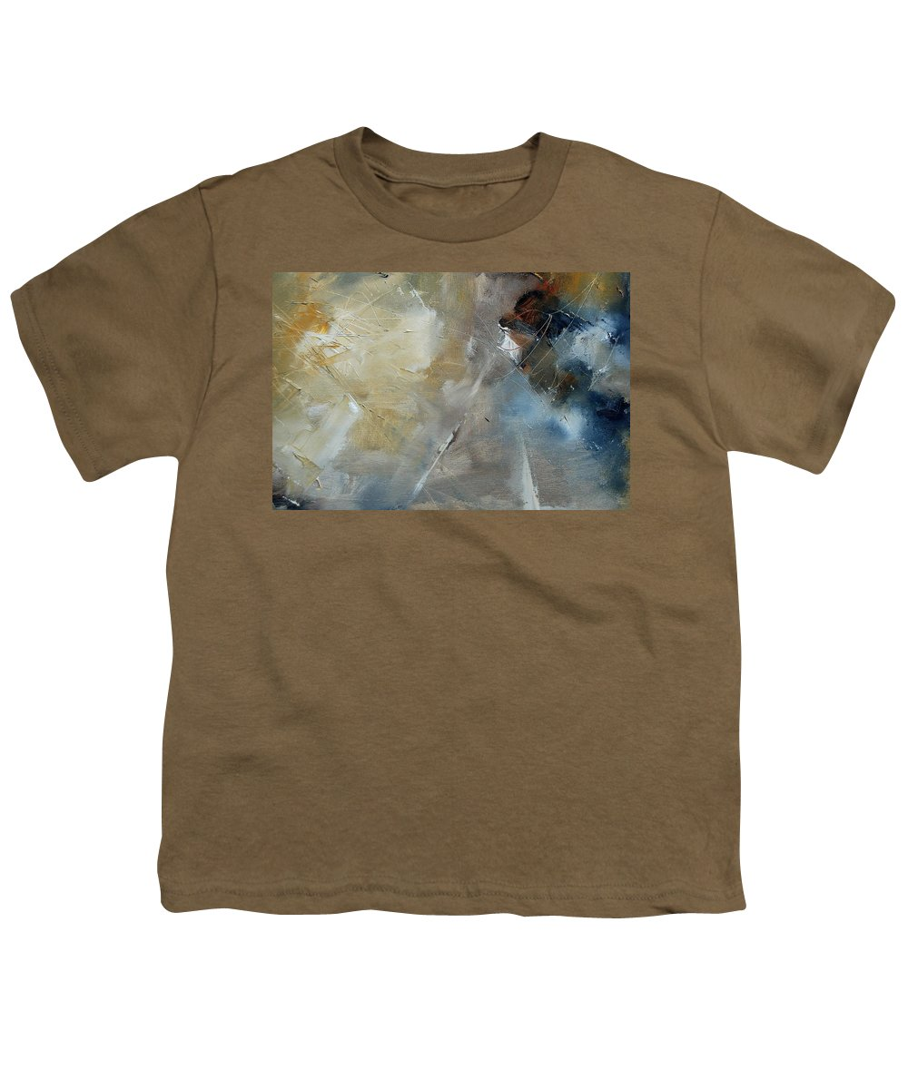 Abstract Youth T-Shirt featuring the painting Abstract 904060 by Pol Ledent