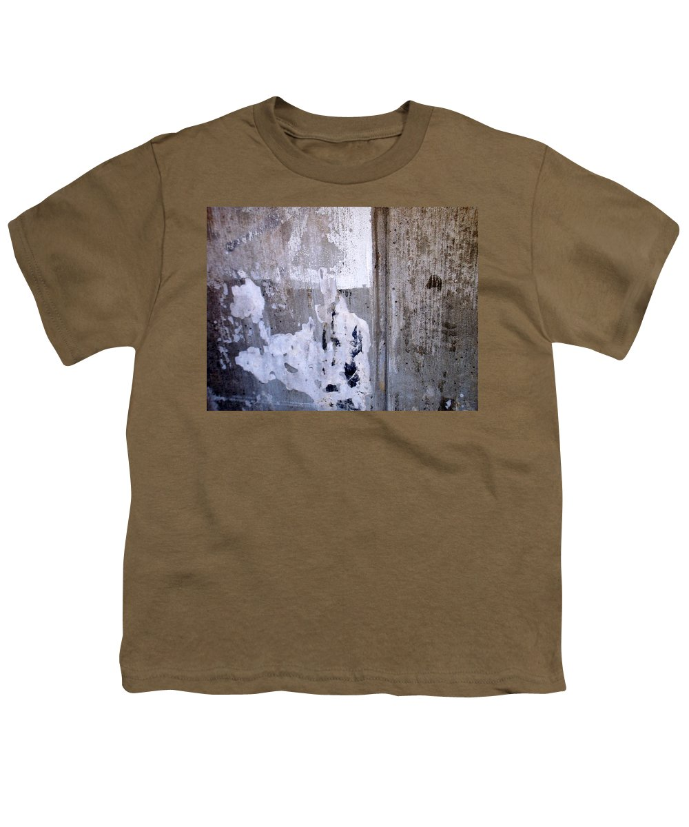 Industrial. Urban Youth T-Shirt featuring the photograph Abstract Concrete 9 by Anita Burgermeister