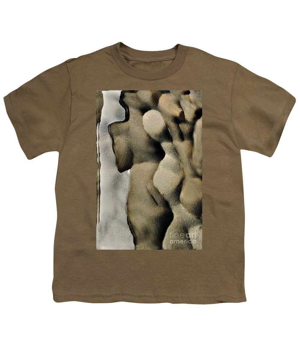 Abstract Youth T-Shirt featuring the photograph Abstract Female Figure In Grey by Hana Shalom