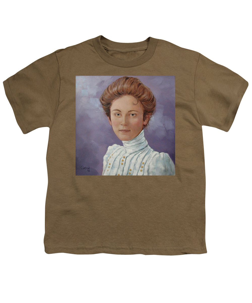 Posthumous Portrait Youth T-Shirt featuring the painting Ada Douglas by Jerrold Carton