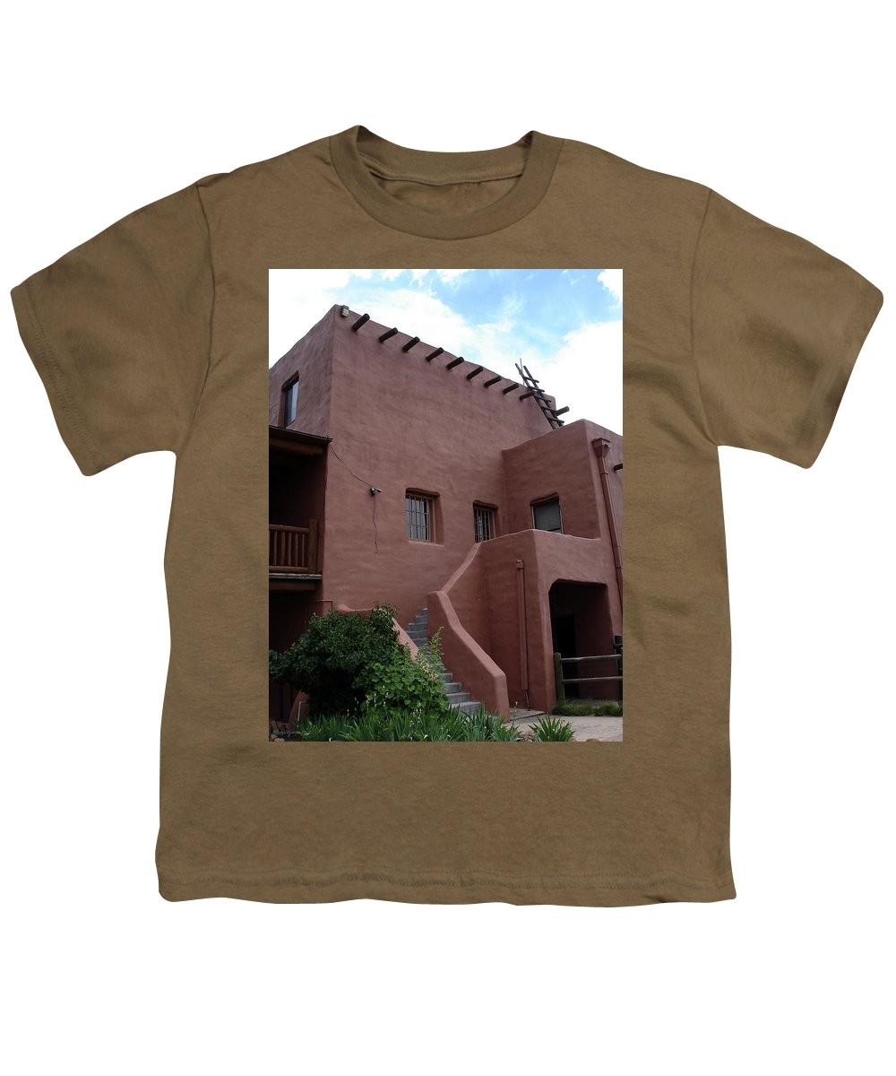Santa Fe Youth T-Shirt featuring the photograph Adobe House At Red Rocks Colorado by Merja Waters