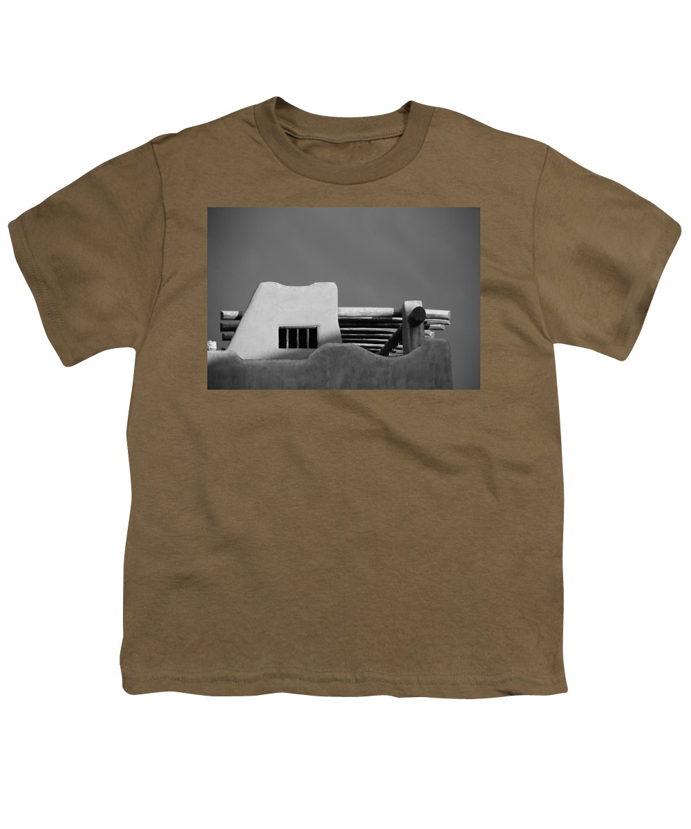 Architecture Youth T-Shirt featuring the photograph Adobe Turrett by Rob Hans