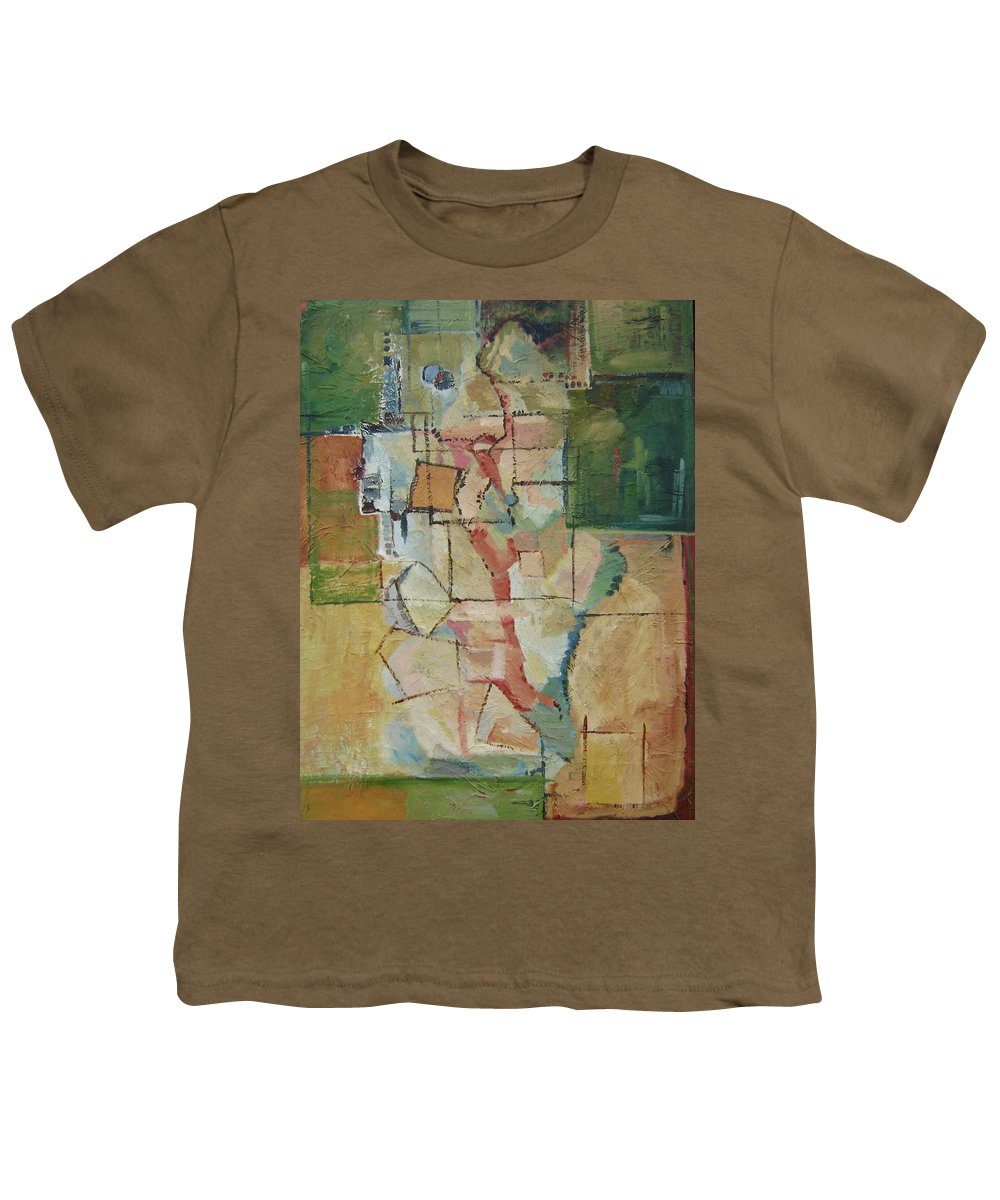 Abstract Art Youth T-Shirt featuring the painting Aerial by Ginger Concepcion