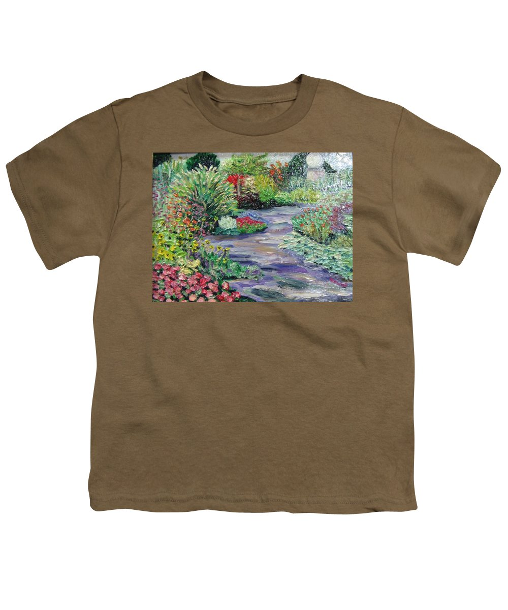 Park Youth T-Shirt featuring the painting Amelia Park Blossoms by Richard Nowak