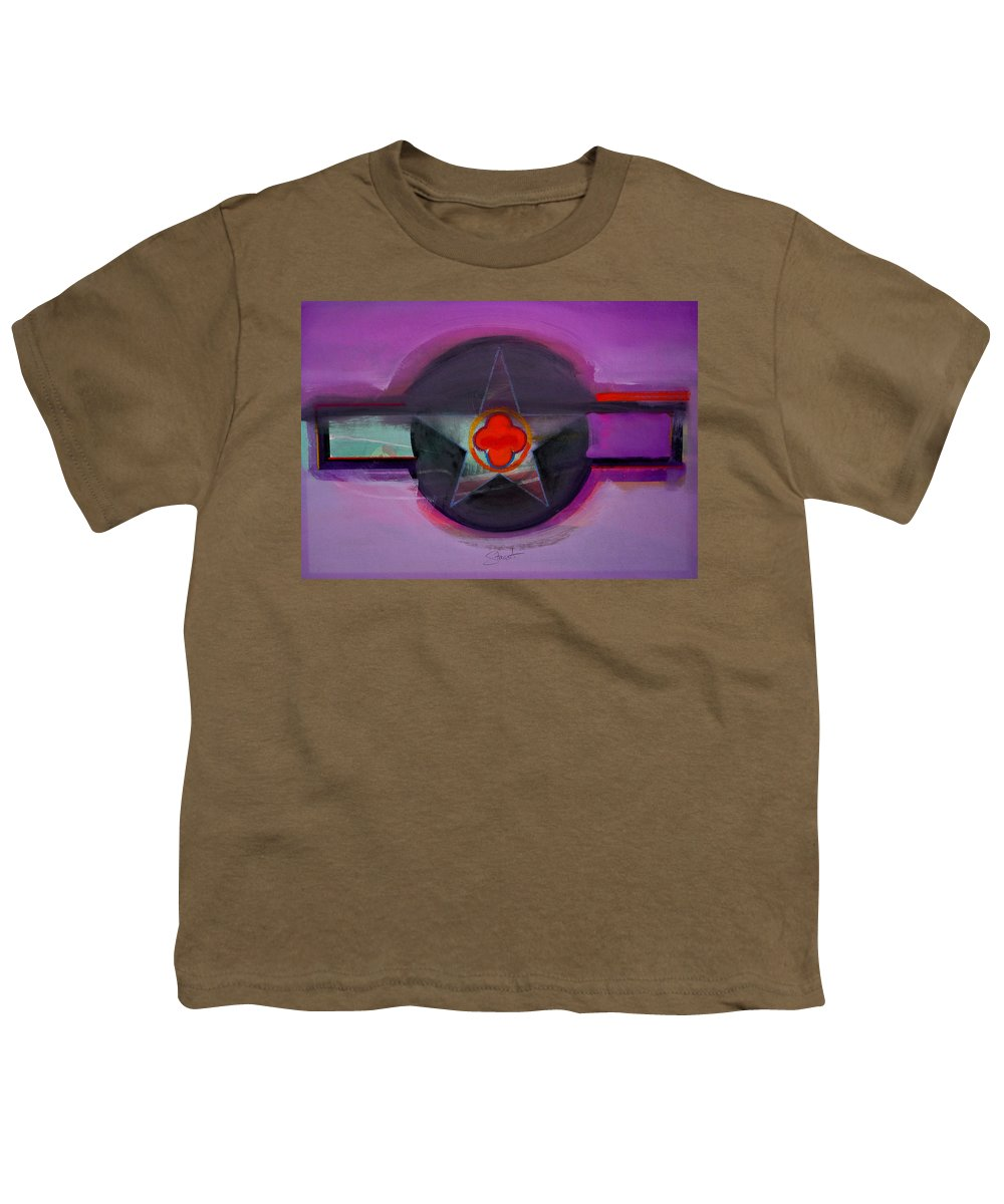 Star Youth T-Shirt featuring the painting American Lilac by Charles Stuart