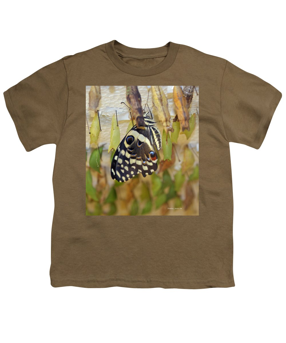 Butterfly Youth T-Shirt featuring the photograph And Life Begins by Shelley Jones