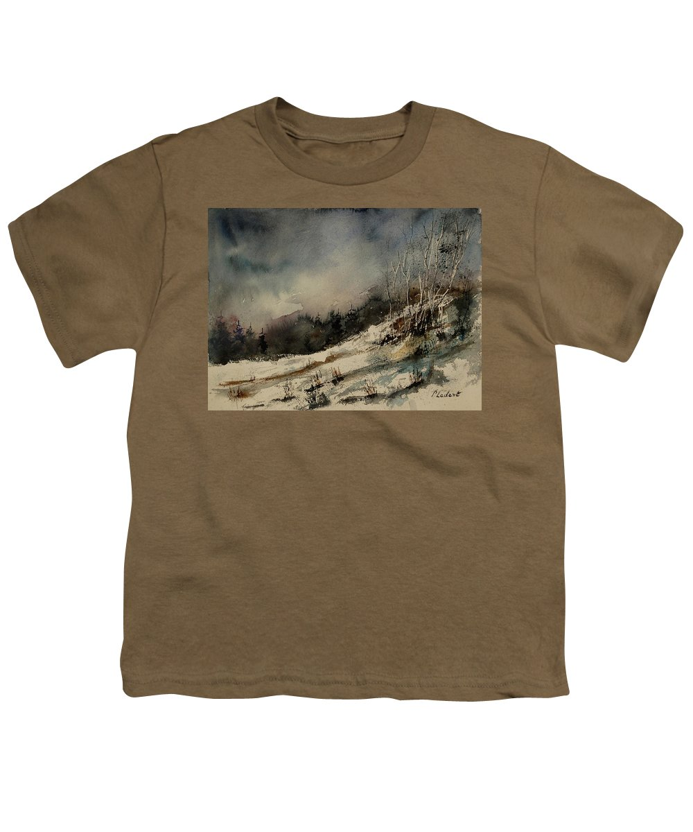 Winter Youth T-Shirt featuring the painting Aqua 051207 by Pol Ledent