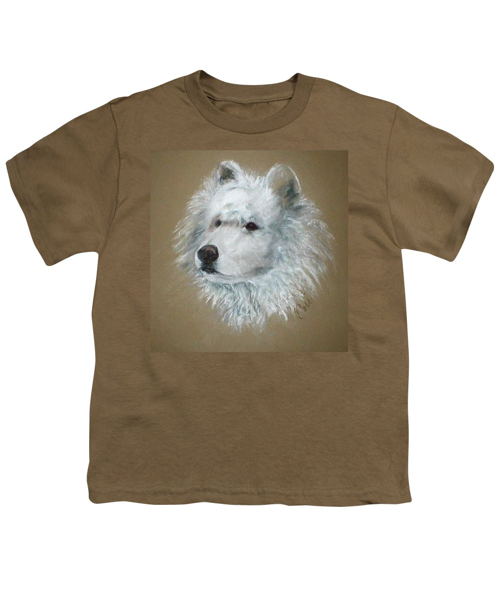 Pastel Youth T-Shirt featuring the drawing Arctic Majestry by Cori Solomon