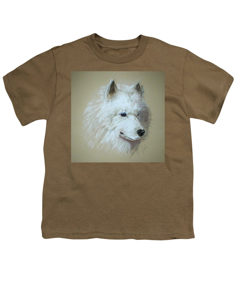 Dog Youth T-Shirt featuring the drawing Arctic Serenity by Cori Solomon