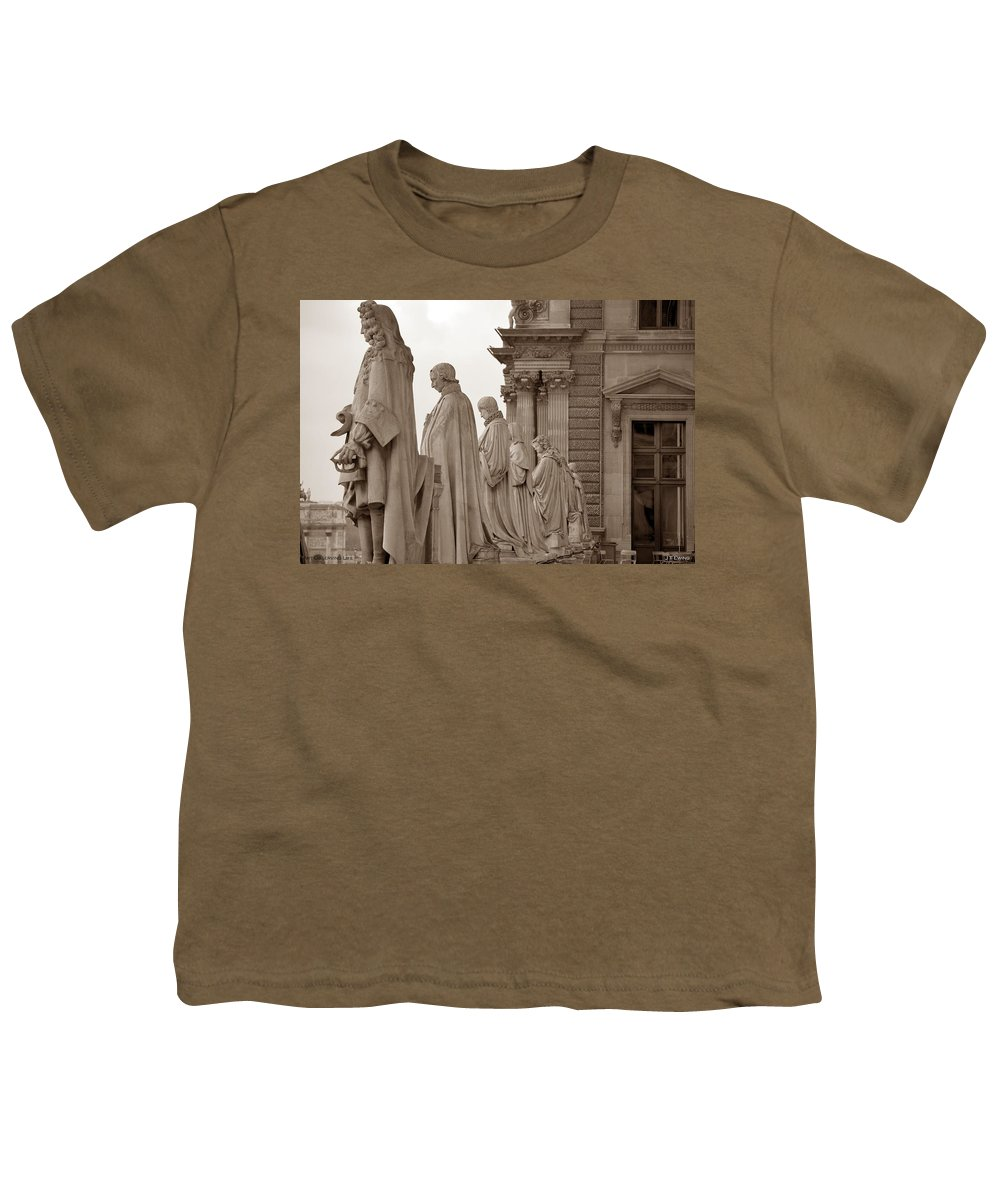 Paris Youth T-Shirt featuring the photograph Art Observing Life by J Todd