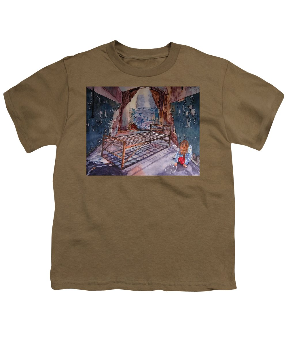 Social Commentary Youth T-Shirt featuring the painting Attitude by Valerie Patterson