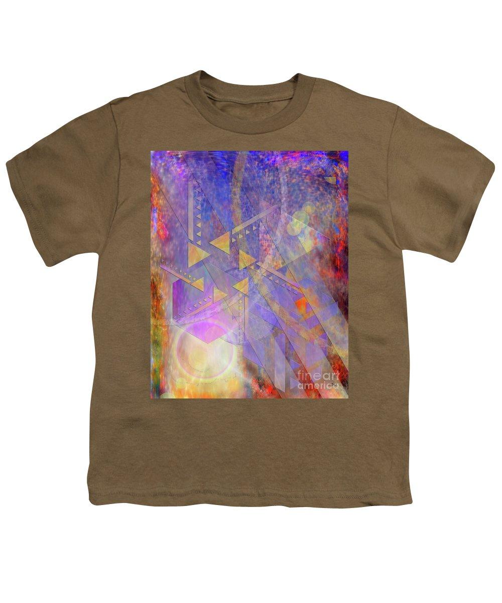 Aurora Aperture Youth T-Shirt featuring the digital art Aurora Aperture by John Beck