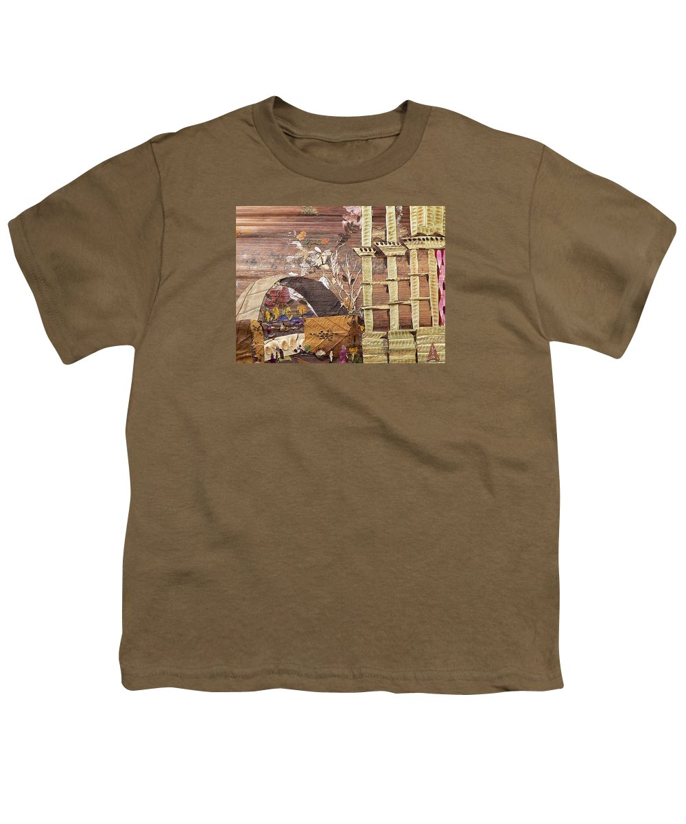 Back Door Entry For Relief To Disabled Youth T-Shirt featuring the mixed media Back Entry by Basant soni