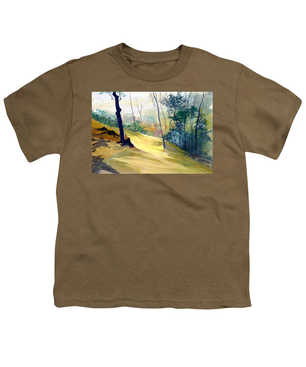 Landscape Youth T-Shirt featuring the painting Balance by Anil Nene
