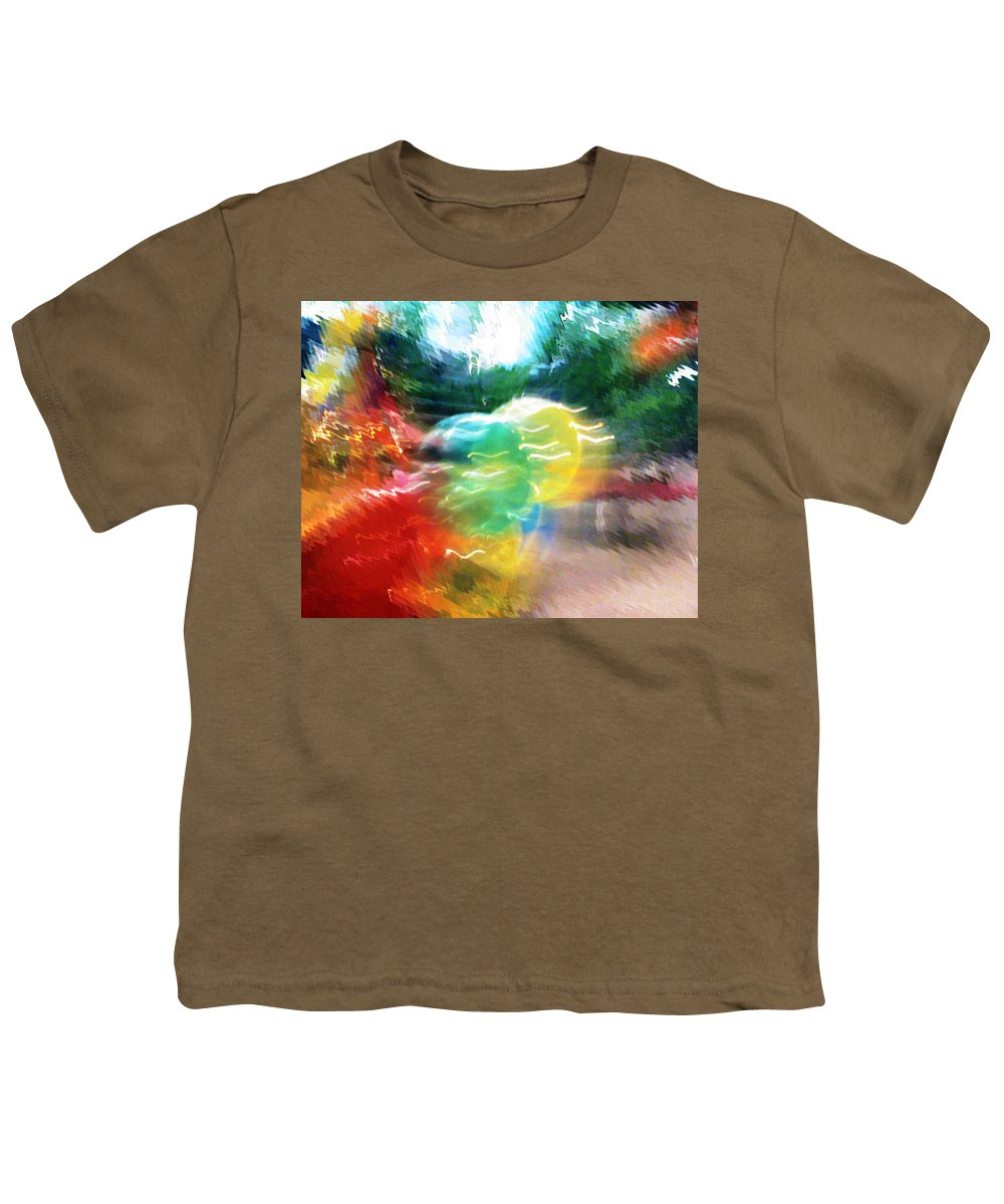 Baloons Youth T-Shirt featuring the painting Baloons N Lights by Anil Nene