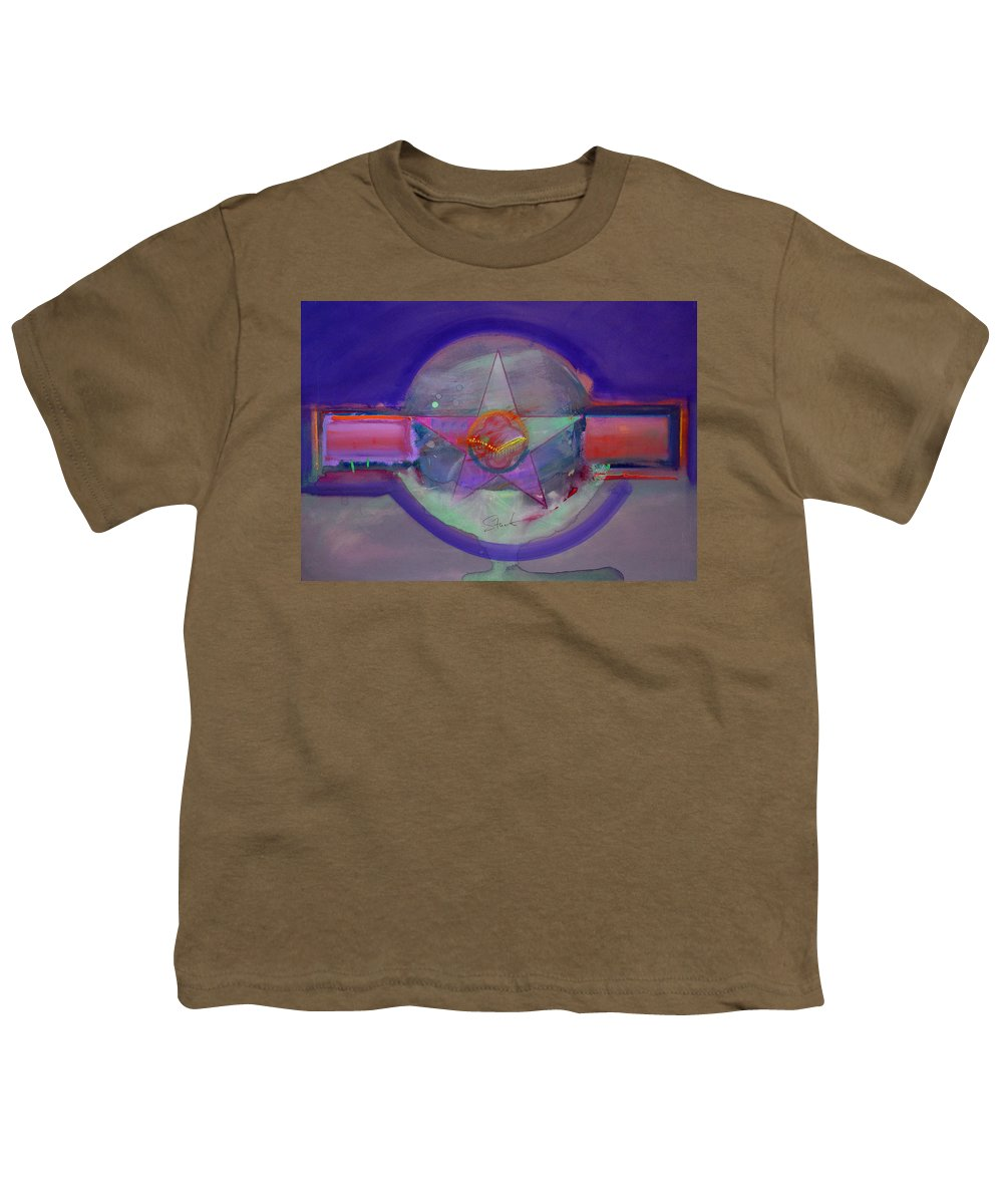 Usaaf Insignia Youth T-Shirt featuring the painting Battlefield by Charles Stuart