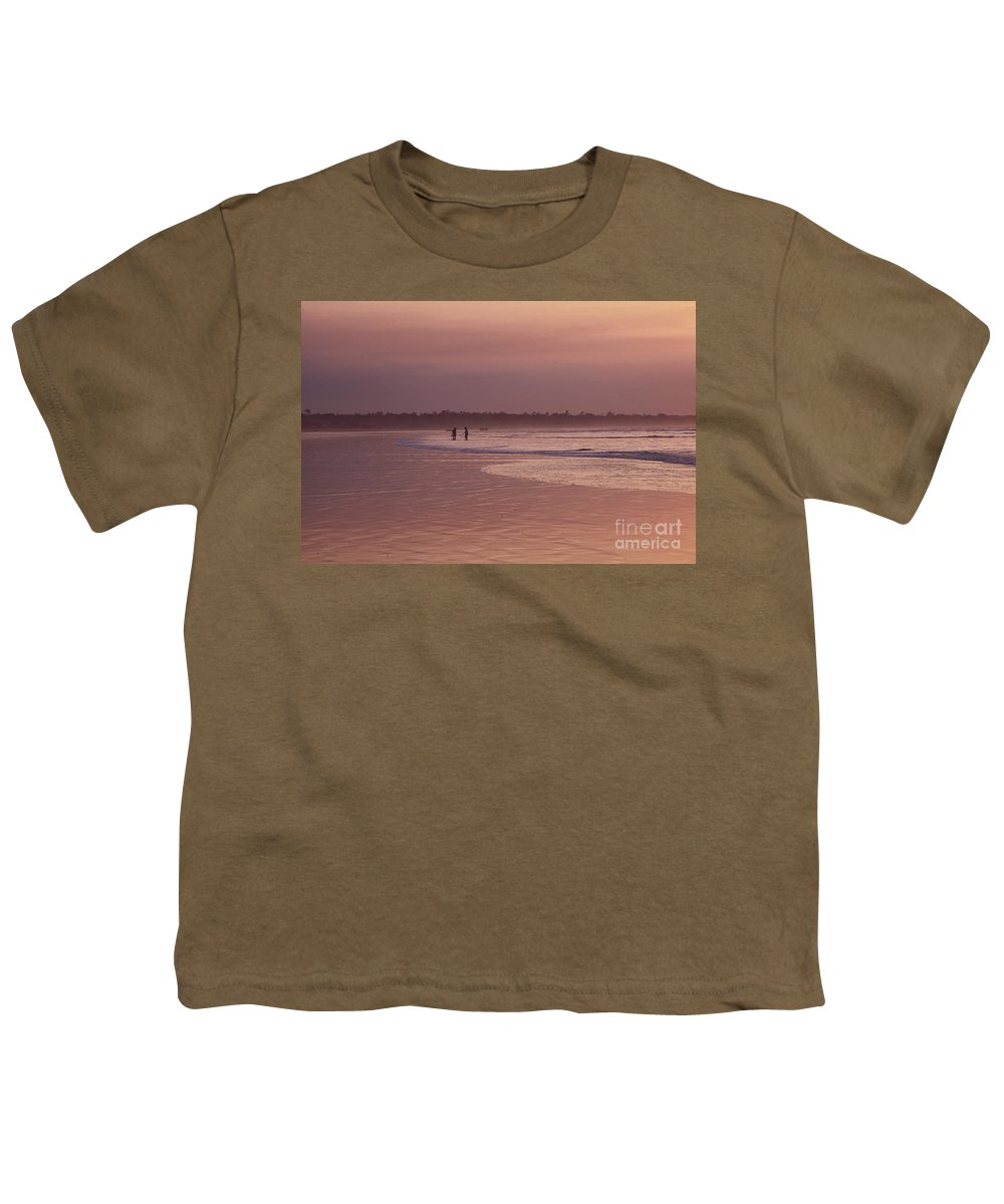 Ecuador Youth T-Shirt featuring the photograph Beachcombers by Kathy McClure