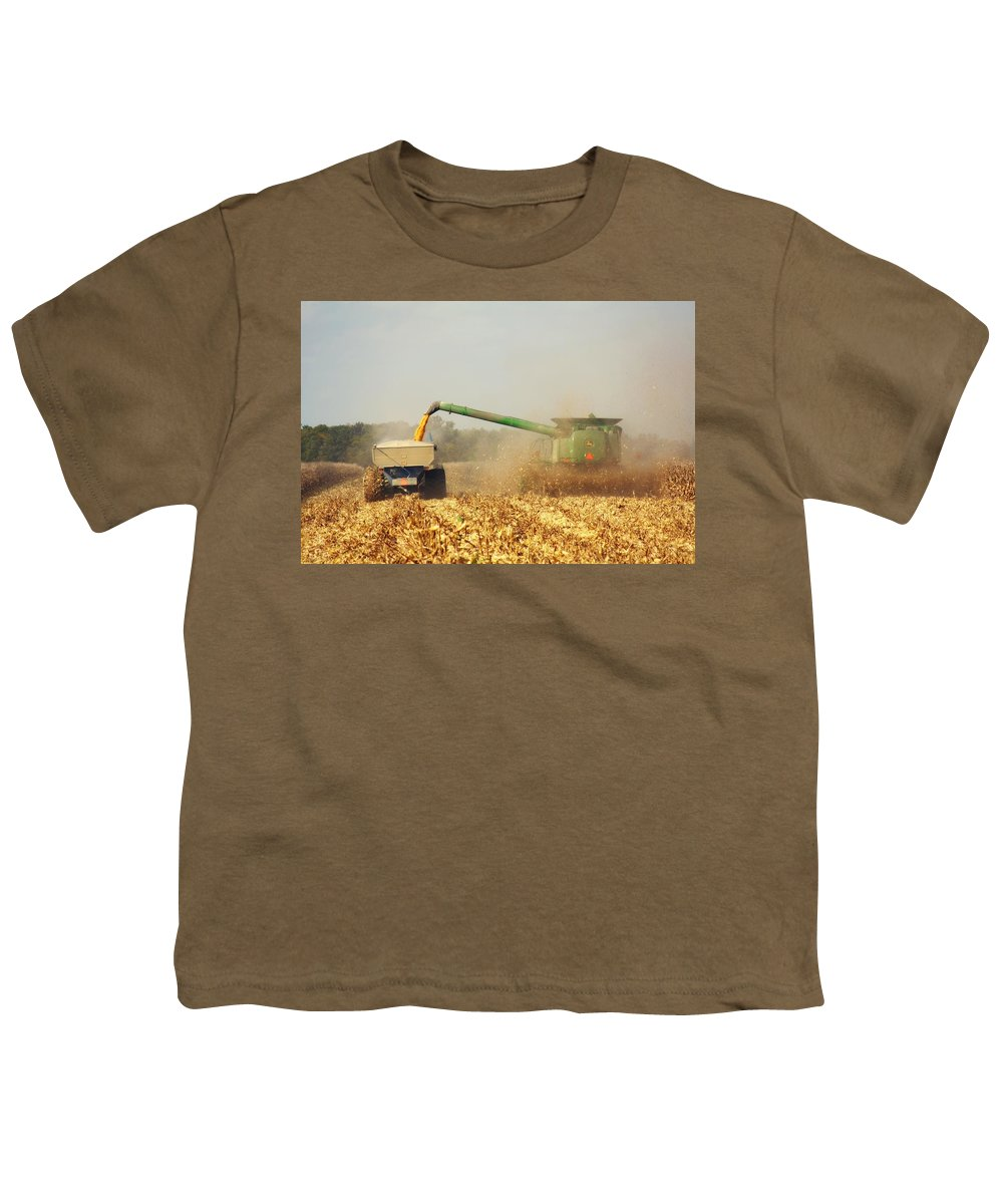 Corn Harvest Youth T-Shirt featuring the photograph Beautiful Corn Harvest by Goldie Pierce
