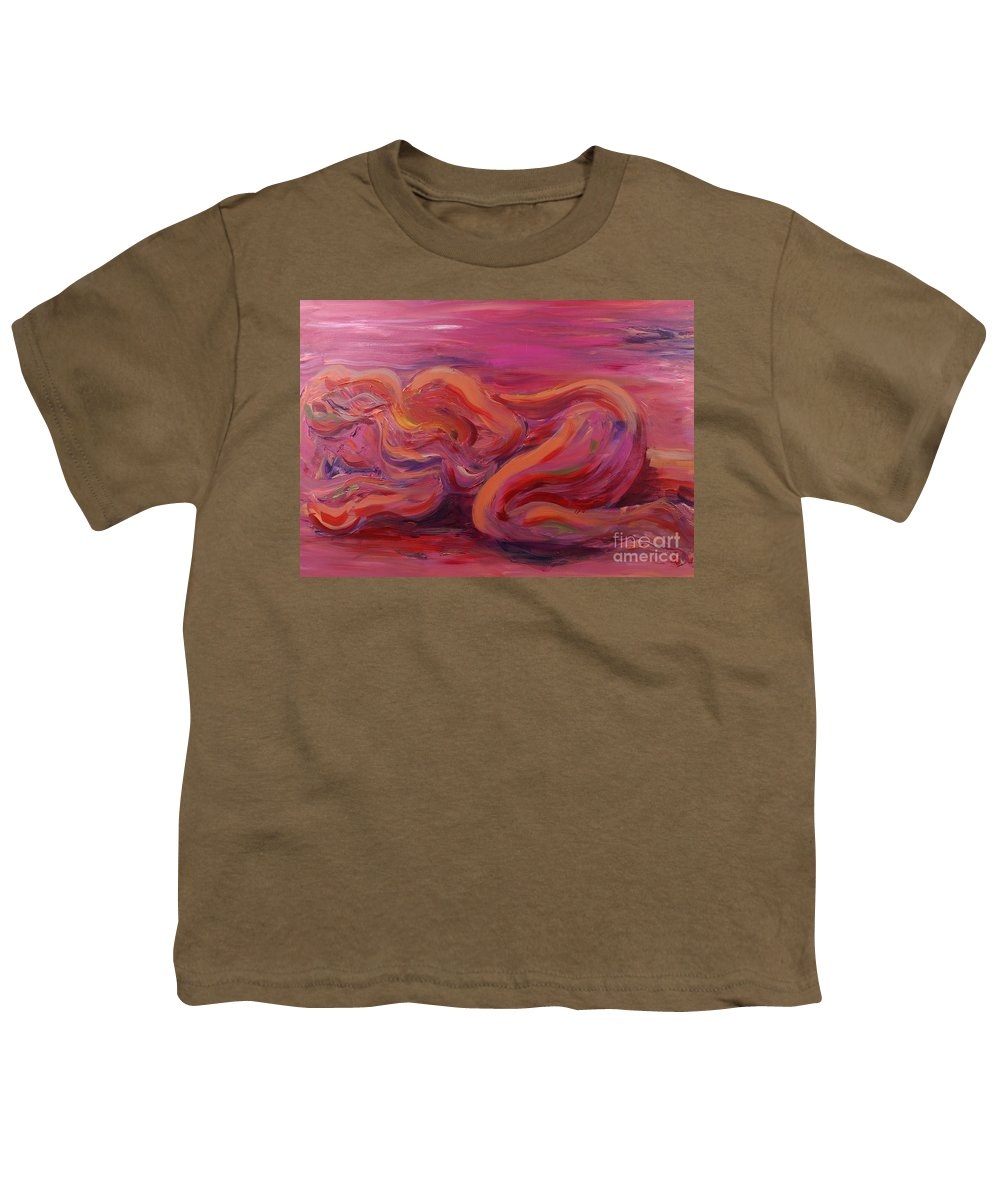 Nude Youth T-Shirt featuring the painting Beauty by Nadine Rippelmeyer