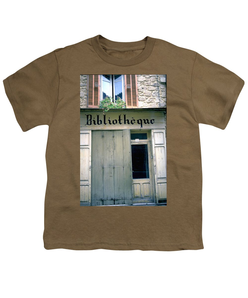 Bibliotheque Youth T-Shirt featuring the photograph Bibliotheque by Flavia Westerwelle