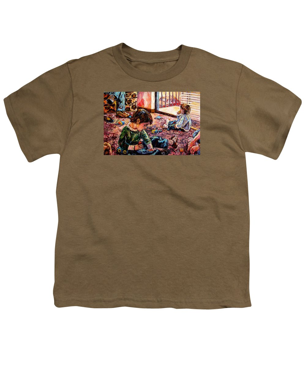 Figure Youth T-Shirt featuring the painting Birthday Party Or A Childs View by Kendall Kessler